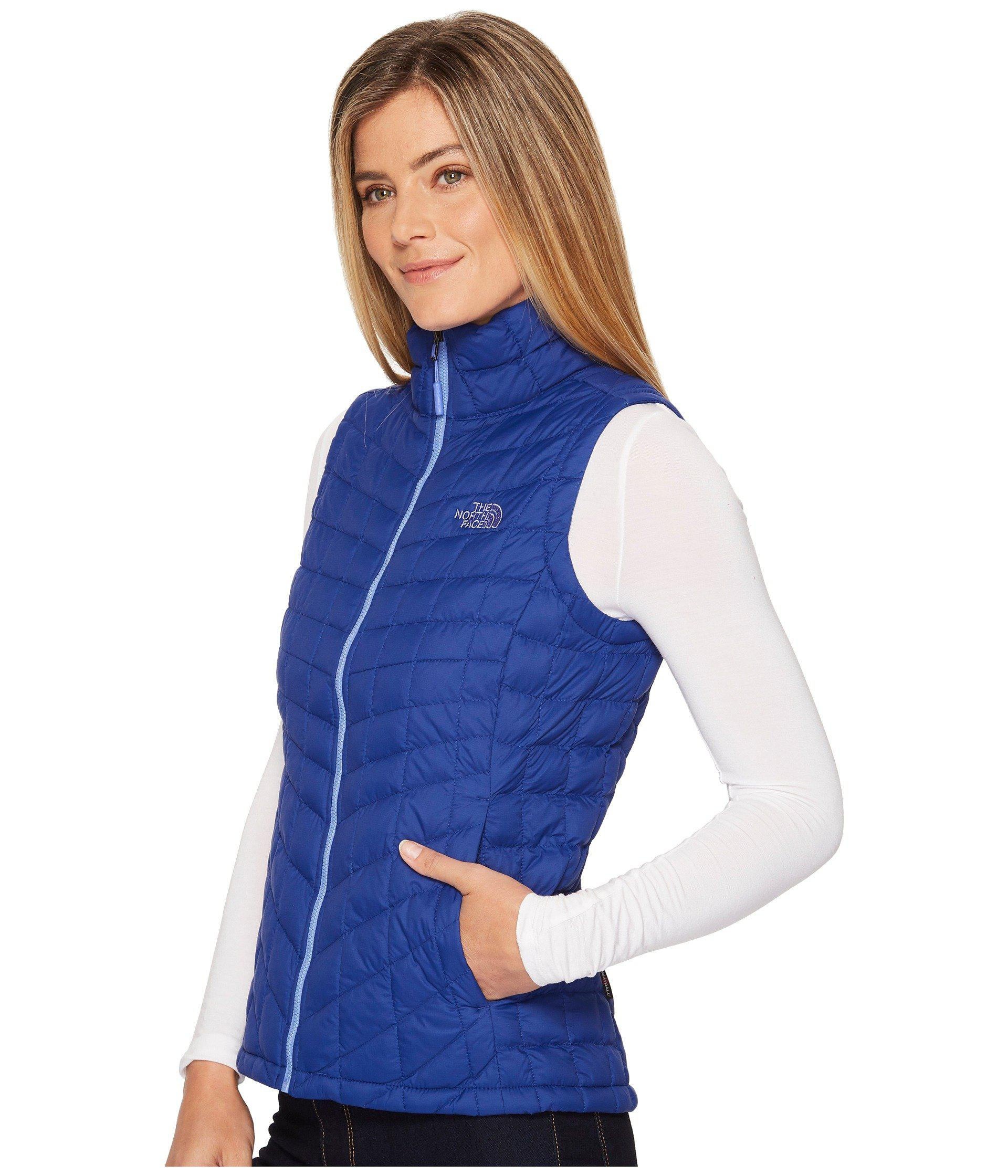 7035e1a0a1 ... best price lyst the north face thermoball vest porcelain green womens  vest in blue a1cd0 fca5f