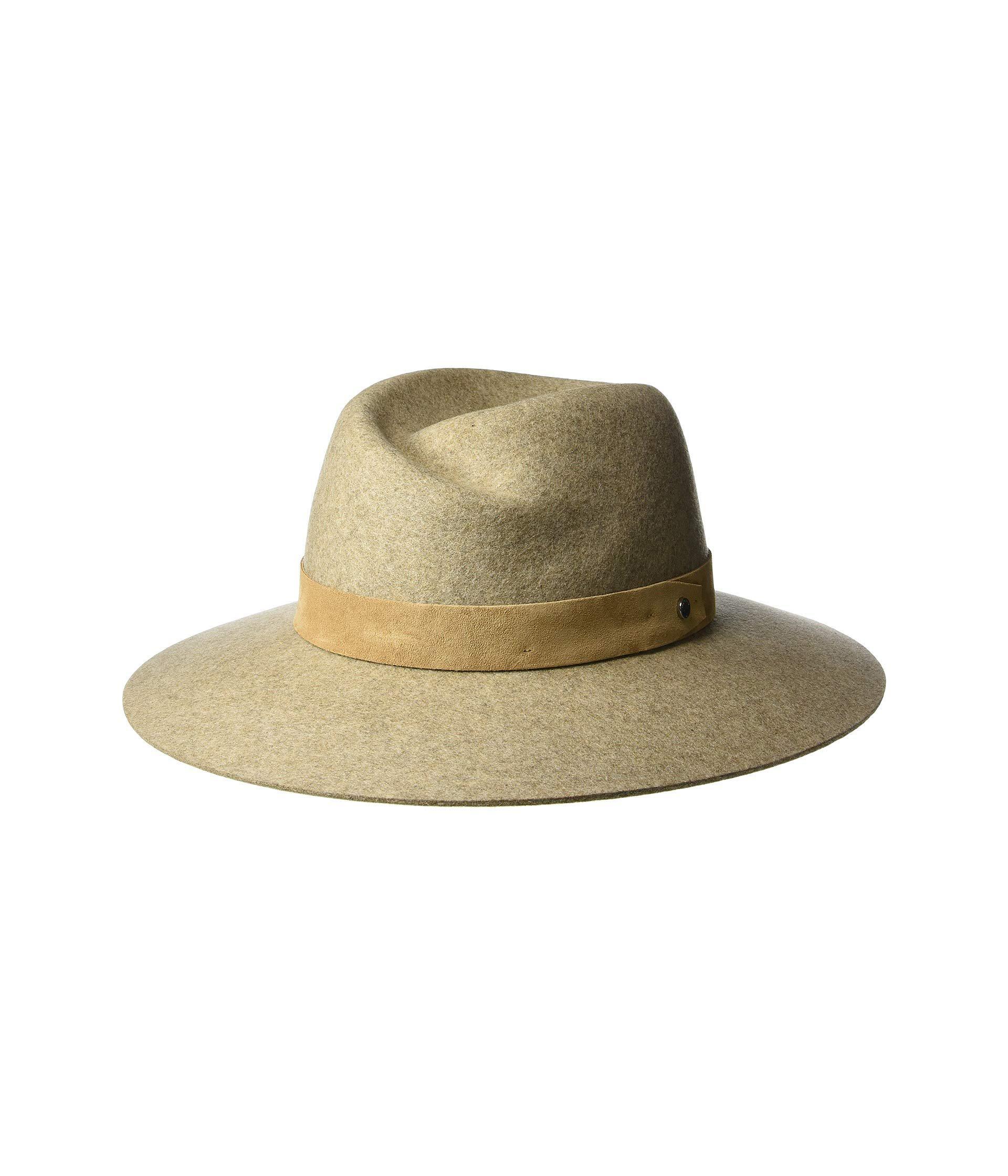a689d9f815033 Lyst - Rag   Bone Zoe Fedora (oatmeal) Fedora Hats in Green