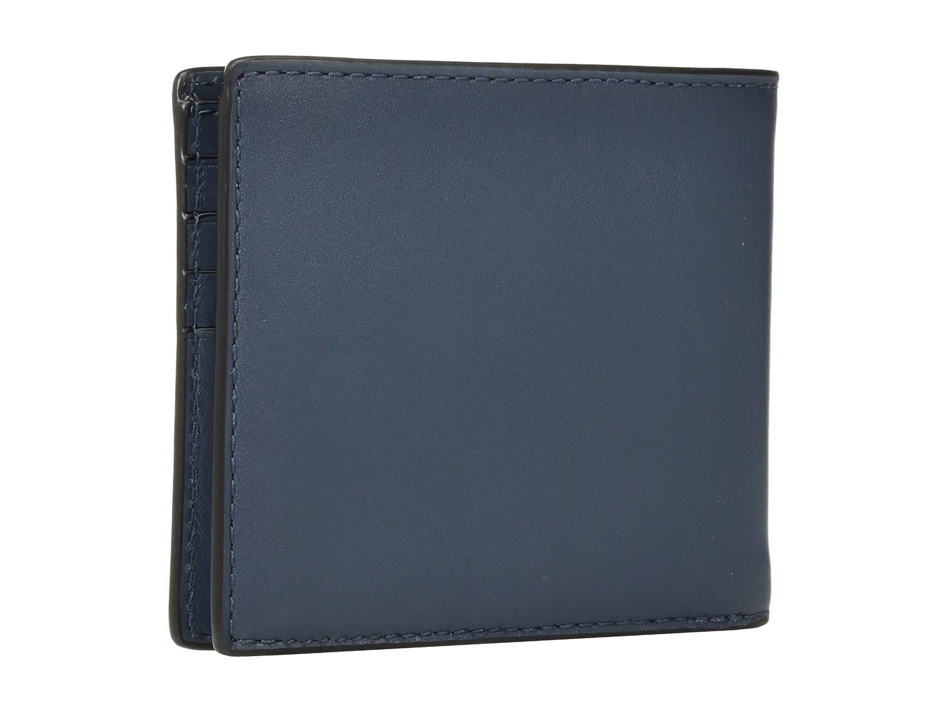 19166058729e COACH - Double Billfold In Signature Hardware (blue) Bill-fold Wallet for  Men. View fullscreen