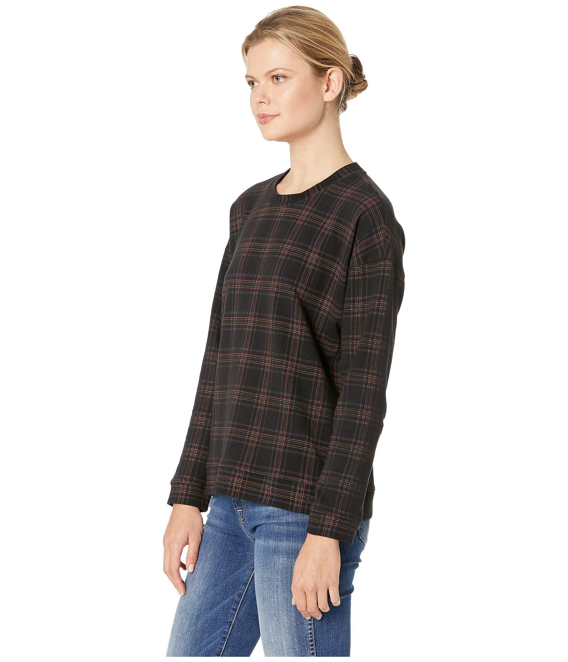 44c66acc1cf9e Lyst - Kenneth Cole Printed Sweatshirt (road Plaid Black) Women s Sweatshirt  in Black