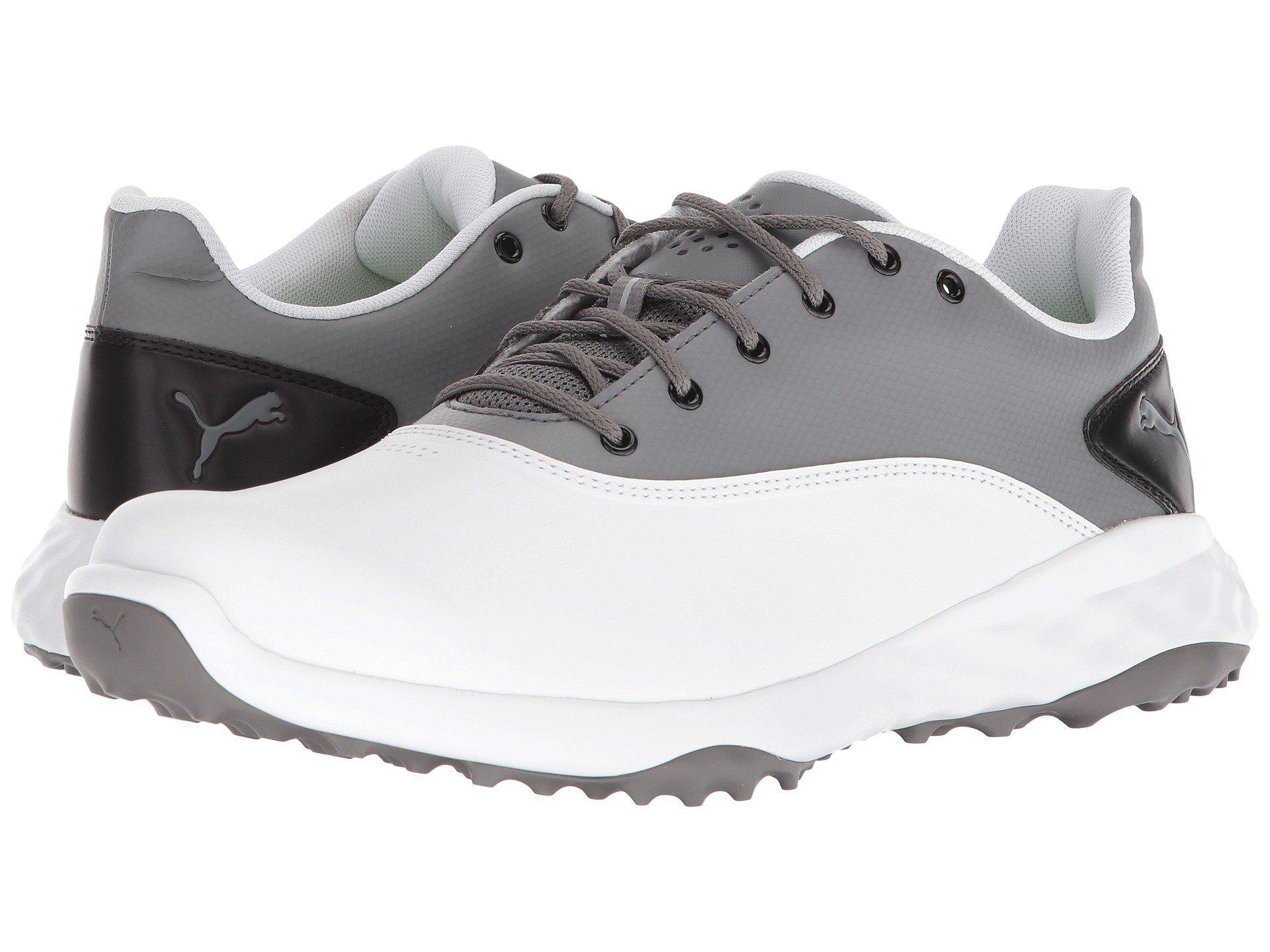 PUMA. Gray Grip Fusion (puma White quiet Shade puma Black) Men s Golf Shoes 69eb8e9da8d