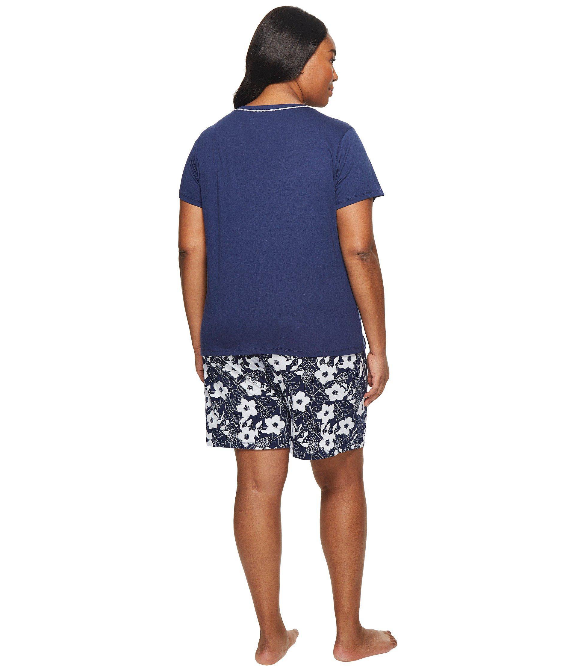 df1fed5a64c Lyst - Jockey Plus Size Two-piece Bermuda Set (navy Top batik Floral ...