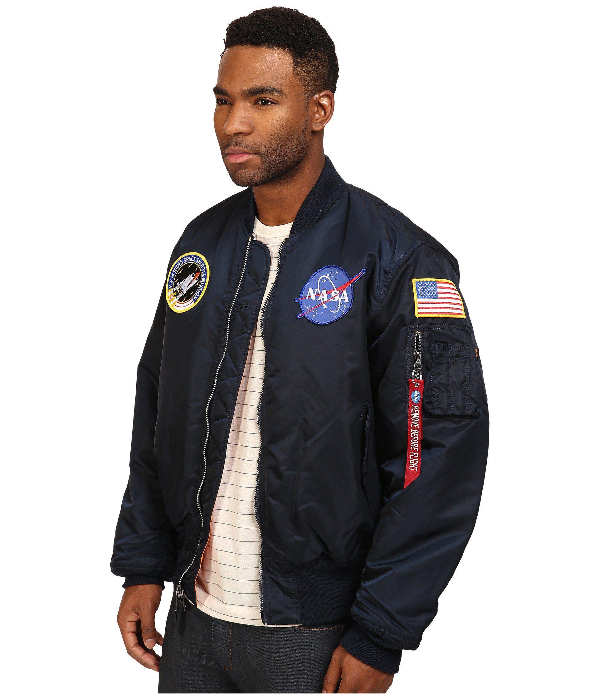 9fc9f81e673 Lyst - Alpha Industries Nasa Ma-1 Flight Jacket (replica Blue) Men s Coat  for Men
