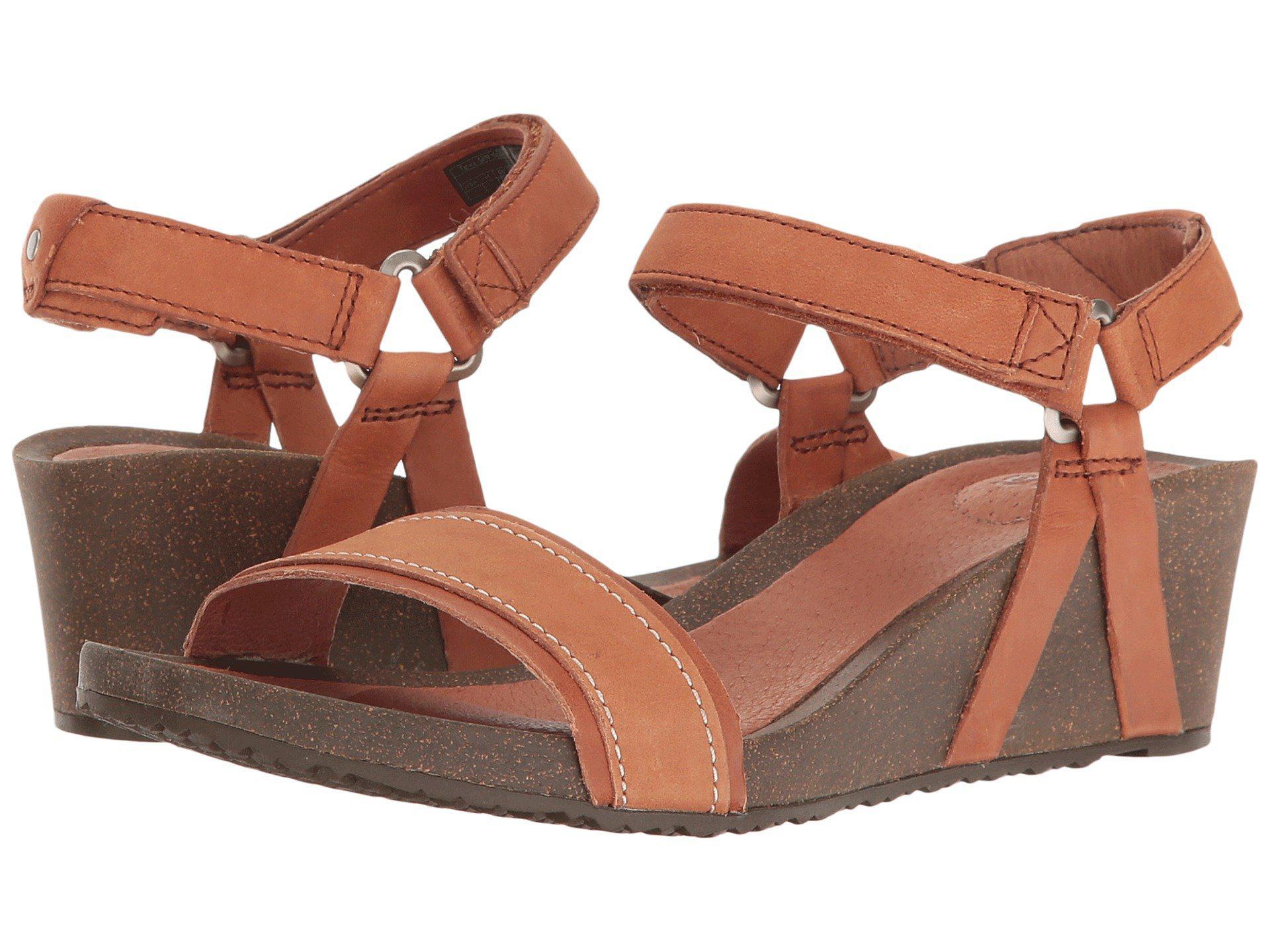 16f2e751f647 Lyst - Teva Ysidro Stitch Wedge (cognac) Women s Wedge Shoes in Brown