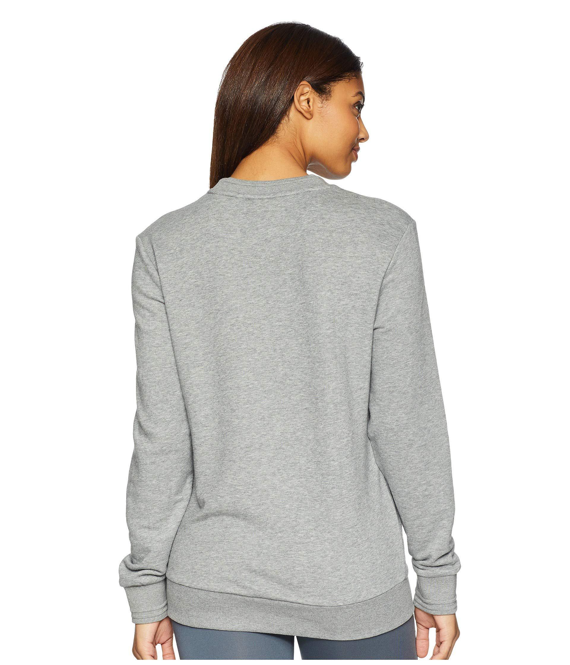 104665d30af7 Lyst - Puma Athletics Crew (medium Gray Heather) Women s Long Sleeve ...