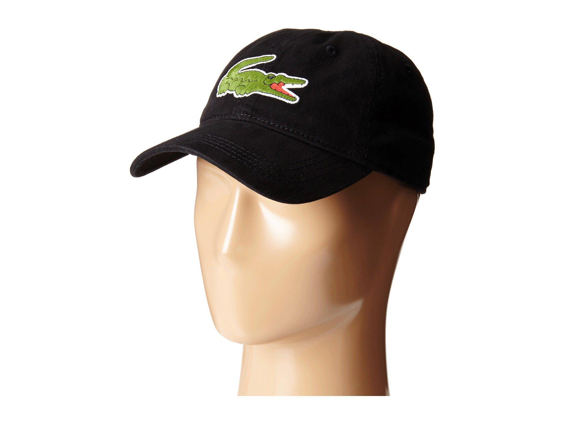 a214e66ab Lyst - Lacoste Big Croc Gabardine Cap (sinople) Baseball Caps in ...