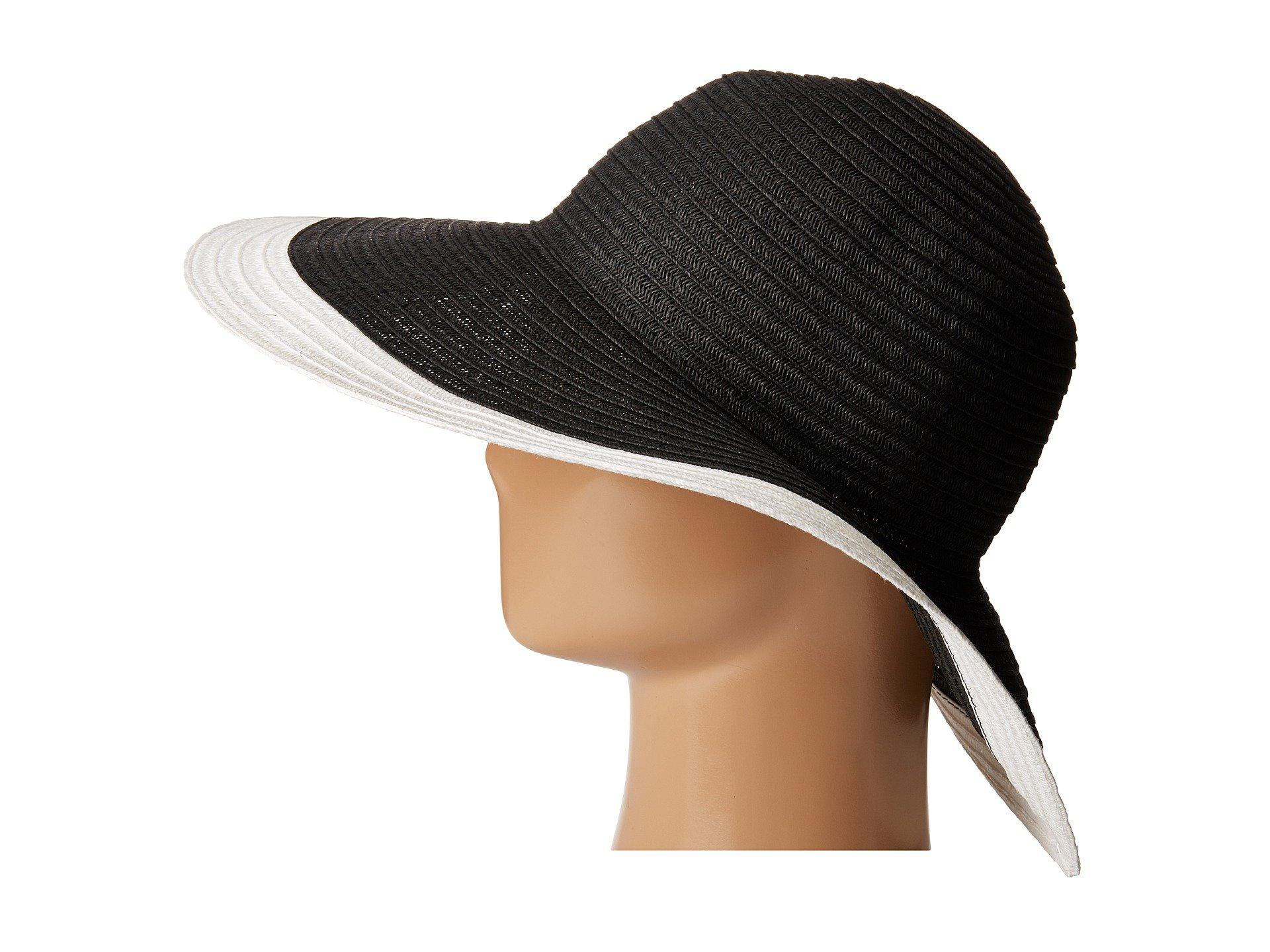 eca75bb4 San Diego Hat Company - Ubl6491 Four Buttons Floppy Color Block Hat (white/ black. View fullscreen