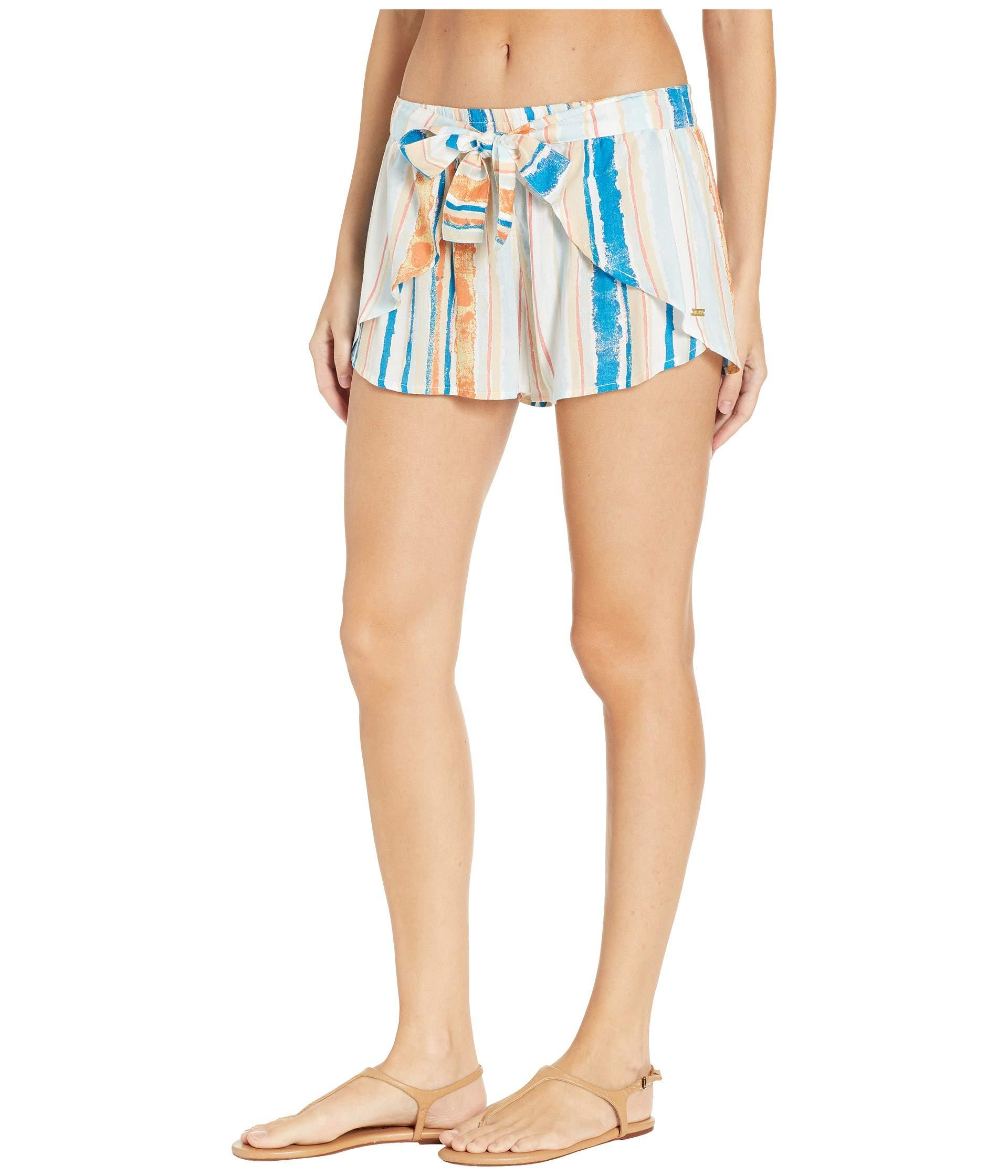 bff05136f8aafb Lyst - Roxy Lemon Chill Shorts Cover-up (anthracite New Flowers) Women's  Swimwear in White