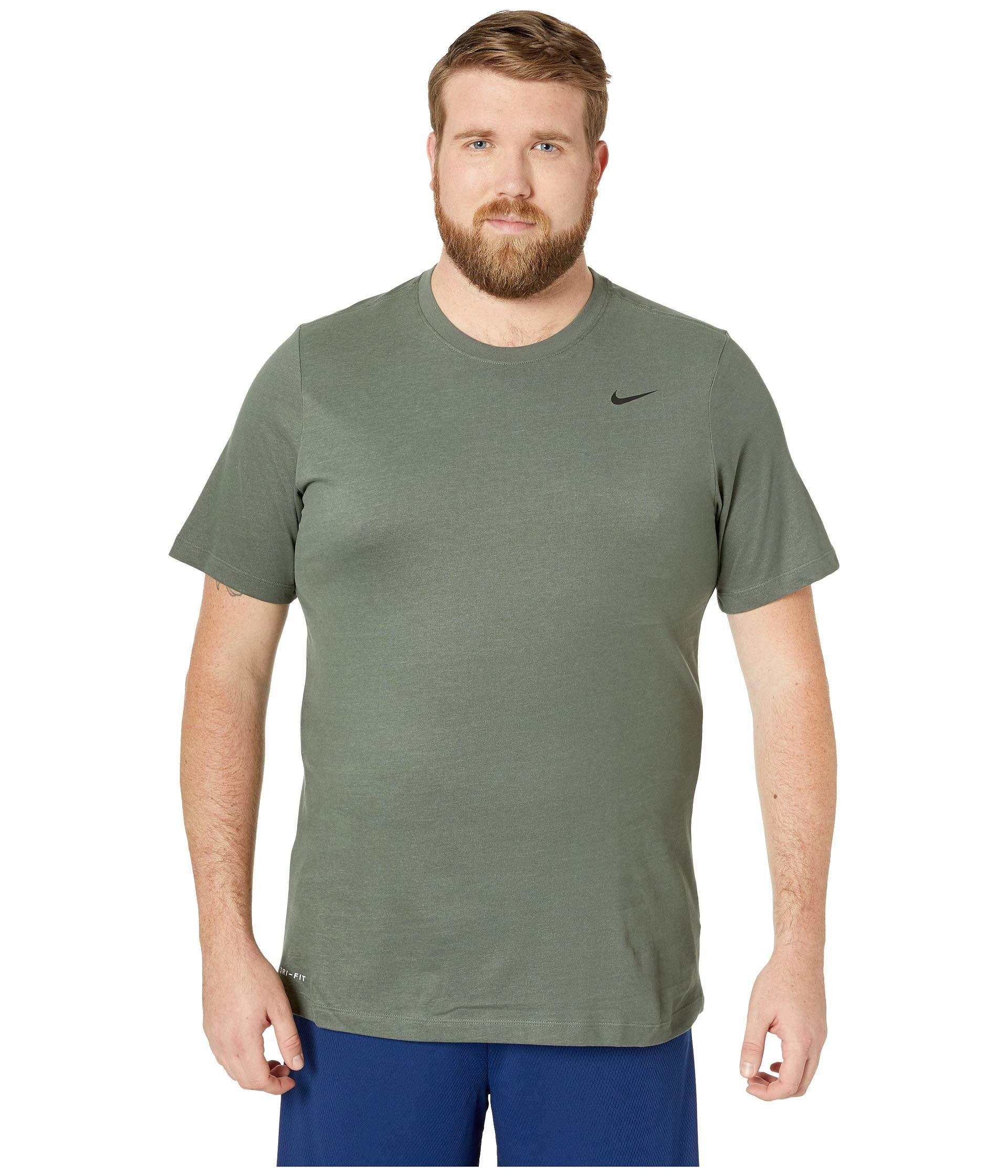 87168ed4 Lyst - Nike Big Tall Dry Tee Dri-fit Cotton Crew Solid (black/white ...