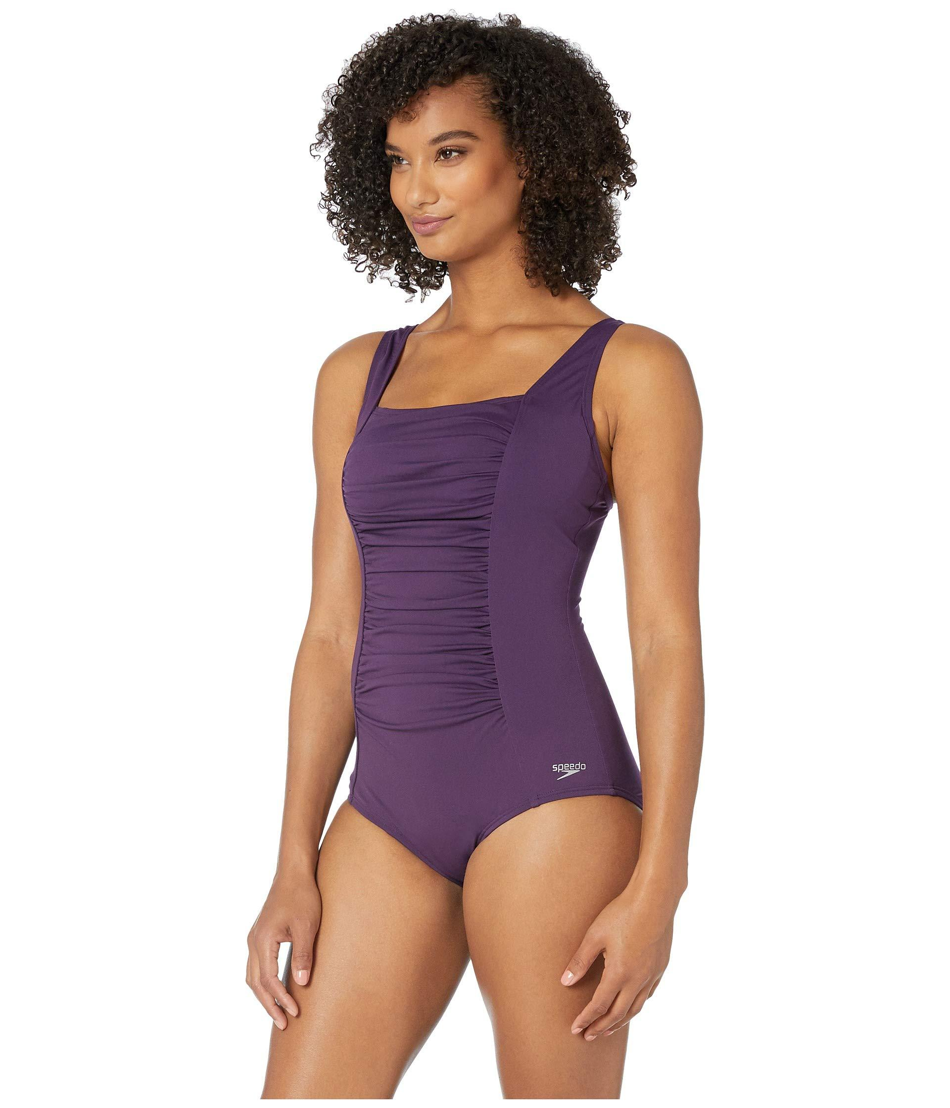 2335aabad4b Lyst - Speedo Shirred Tank One Piece (gravity) Women's Swimsuits One ...