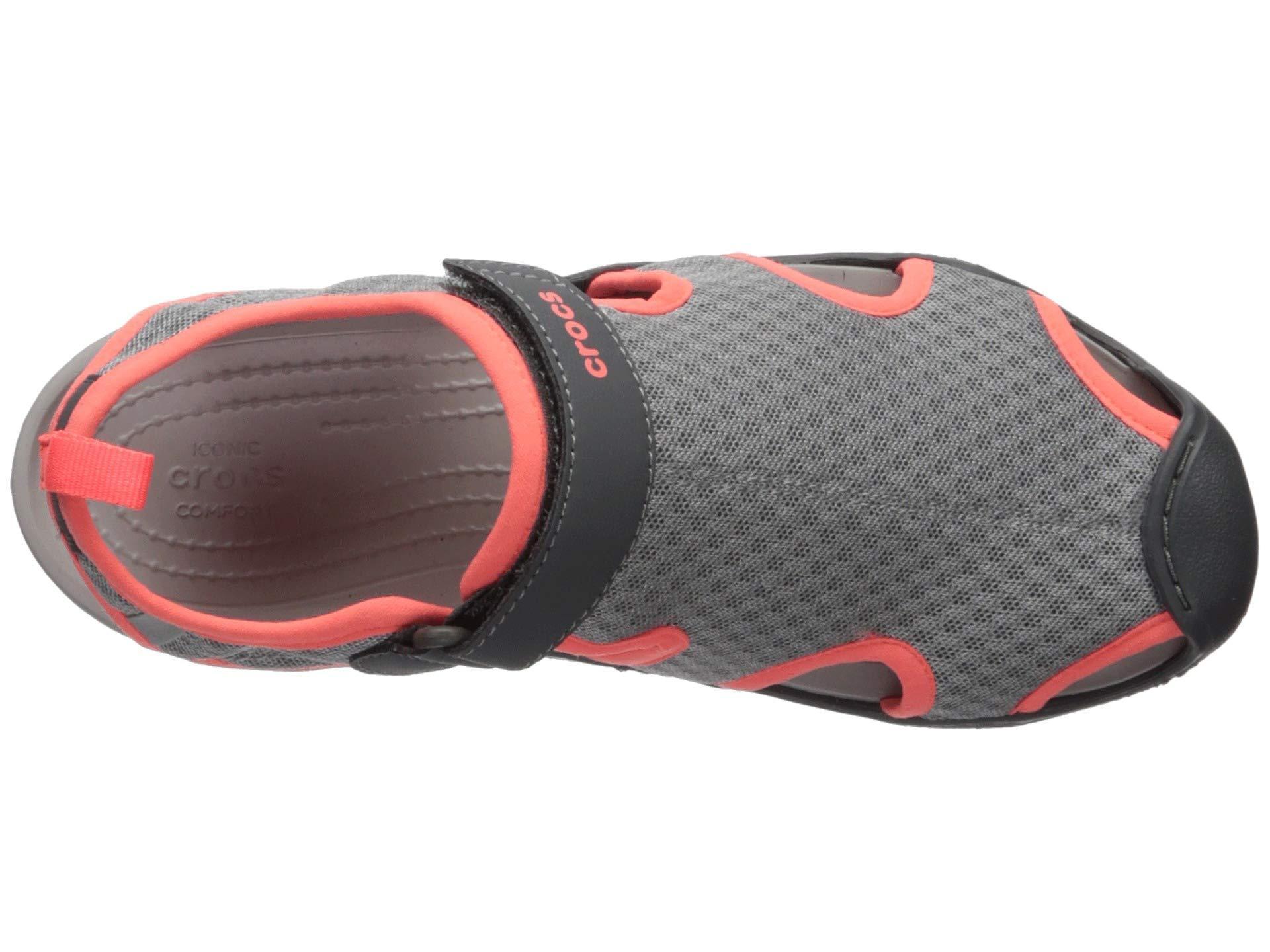 b9da377af0 Crocs™ - Gray Swiftwater Mesh Sandal (black) Women s Sandals - Lyst. View  fullscreen