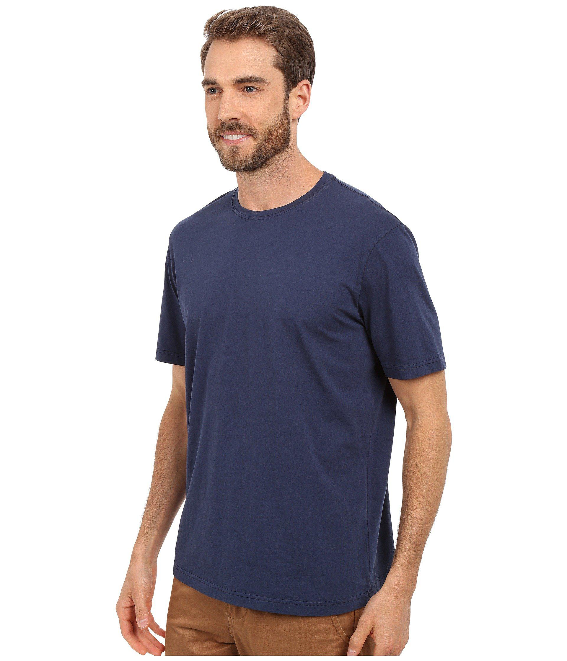 ed4627cad Lyst - Mod-o-doc Sunset Short Sleeve Crew (new Navy) Men's Short Sleeve  Pullover in Blue for Men