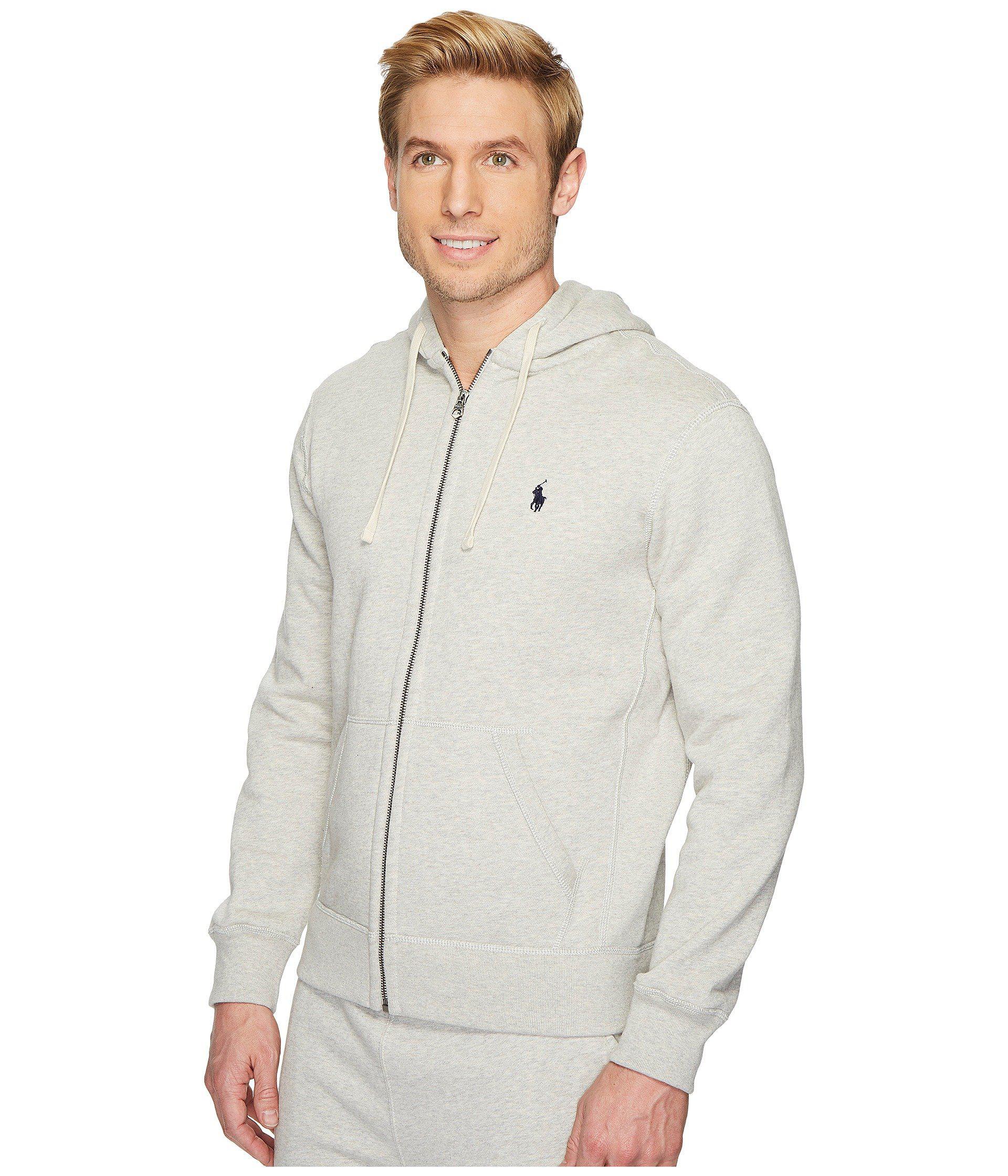 7b2634a92add8 Lyst - Polo Ralph Lauren Classic Fleece Full-zip Hoodie (light Sport Heather)  Men s Sweatshirt in Gray for Men