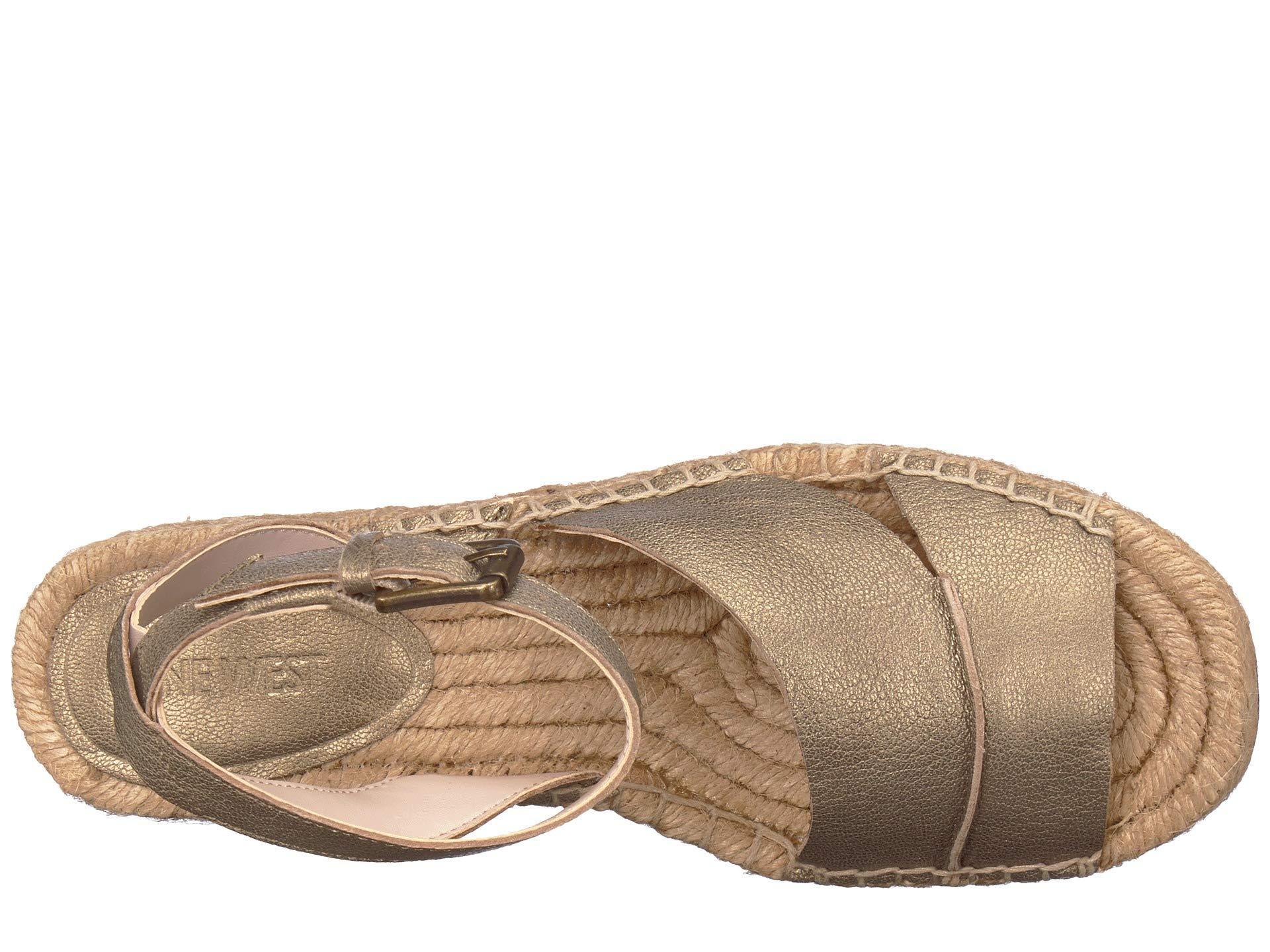 33e59be8ffb6 Nine West - Metallic Edwisha Wedge Sandal (sweet Berry) Women s Wedge Shoes  - Lyst. View fullscreen