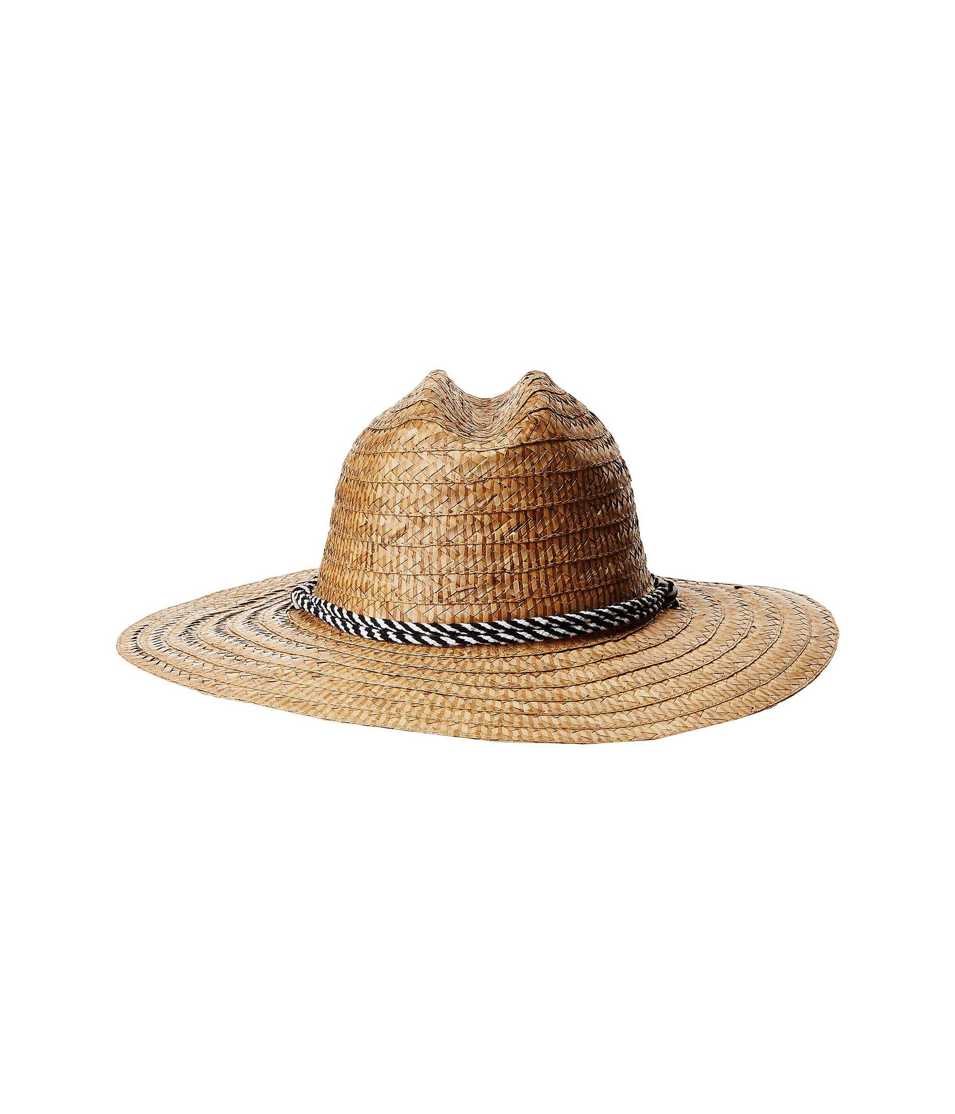 6b5556573bc66 Lyst - San Diego Hat Company Kwai Braided Straw Lifeguard (natural ...