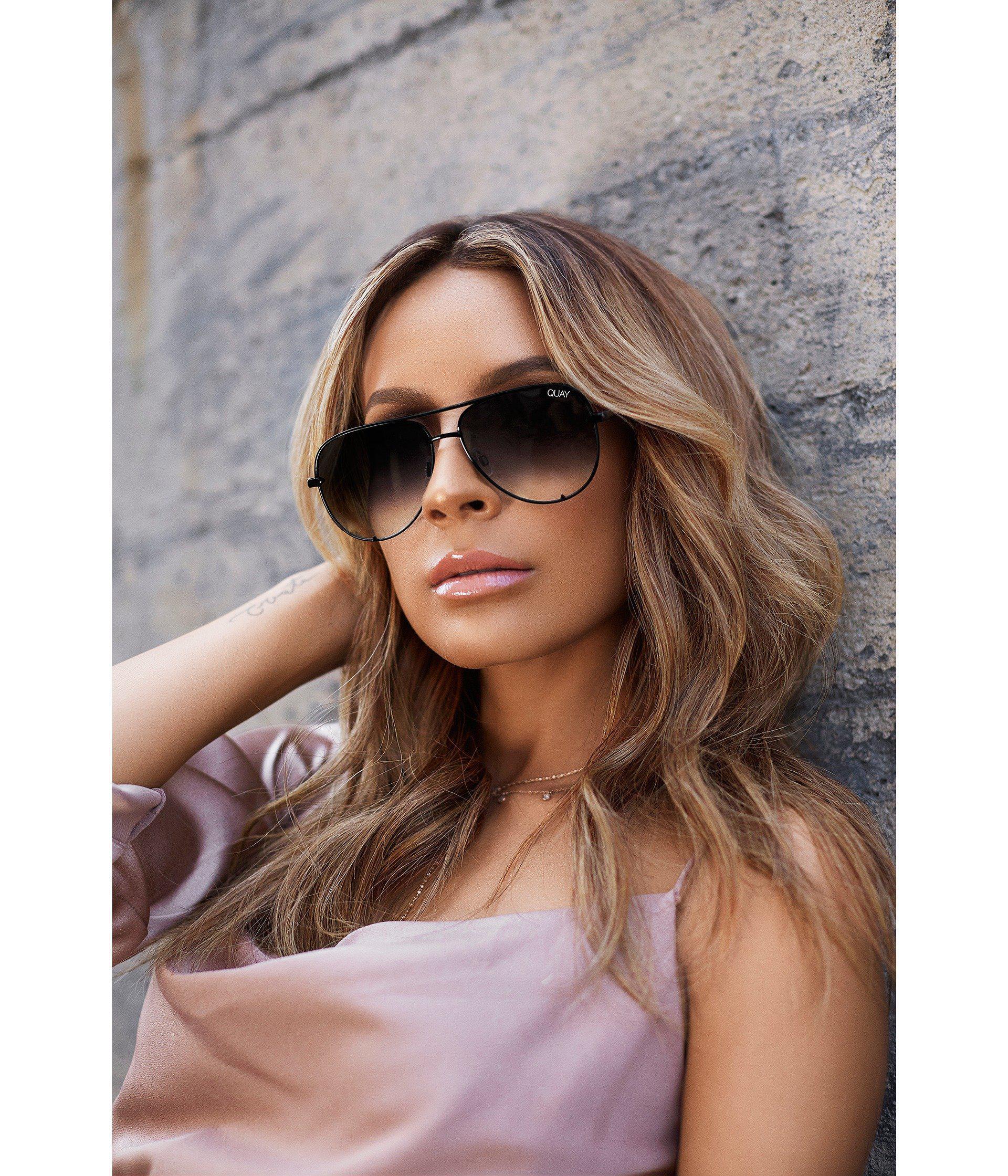 c748337eb66 Quay - High Key Mini Quay X Desi (black silver) Fashion Sunglasses -. View  fullscreen