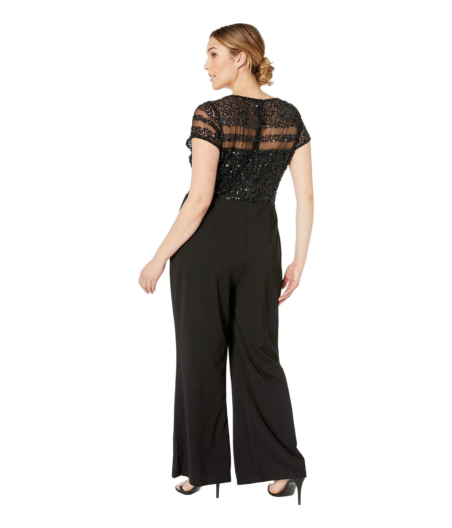 f84d9d2044ed Adrianna Papell - Plus Size Crepe Jumpsuit (black) Women s Jumpsuit    Rompers One Piece. View fullscreen