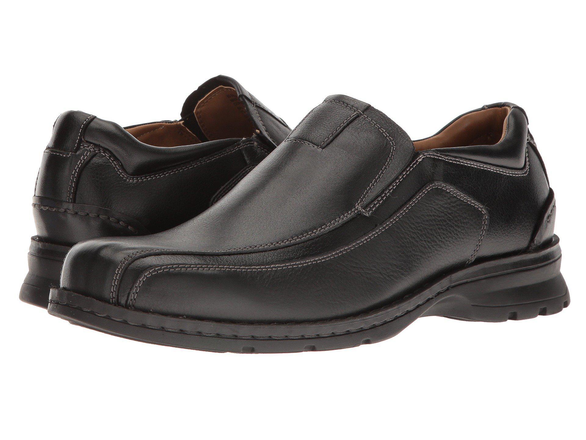 5e60d5957ba Lyst - Dockers Agent Bike Toe Slip On (black Tumbled Leather) Men s ...