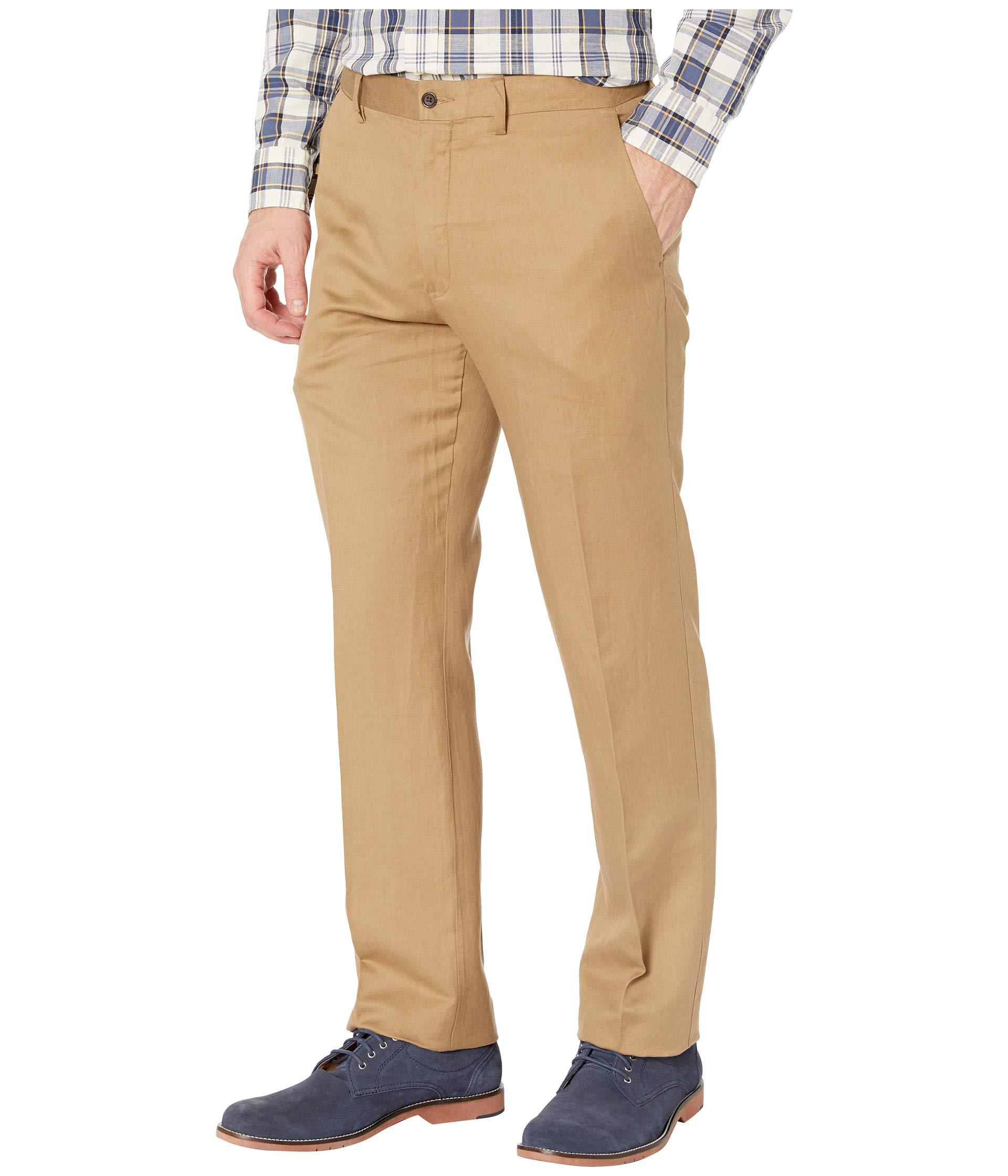 4f48299c4 Lyst - Polo Ralph Lauren Linen Lyocell Blend Newport Flat Classic Fit Pants  (desert Khaki) Men s Clothing in Natural for Men