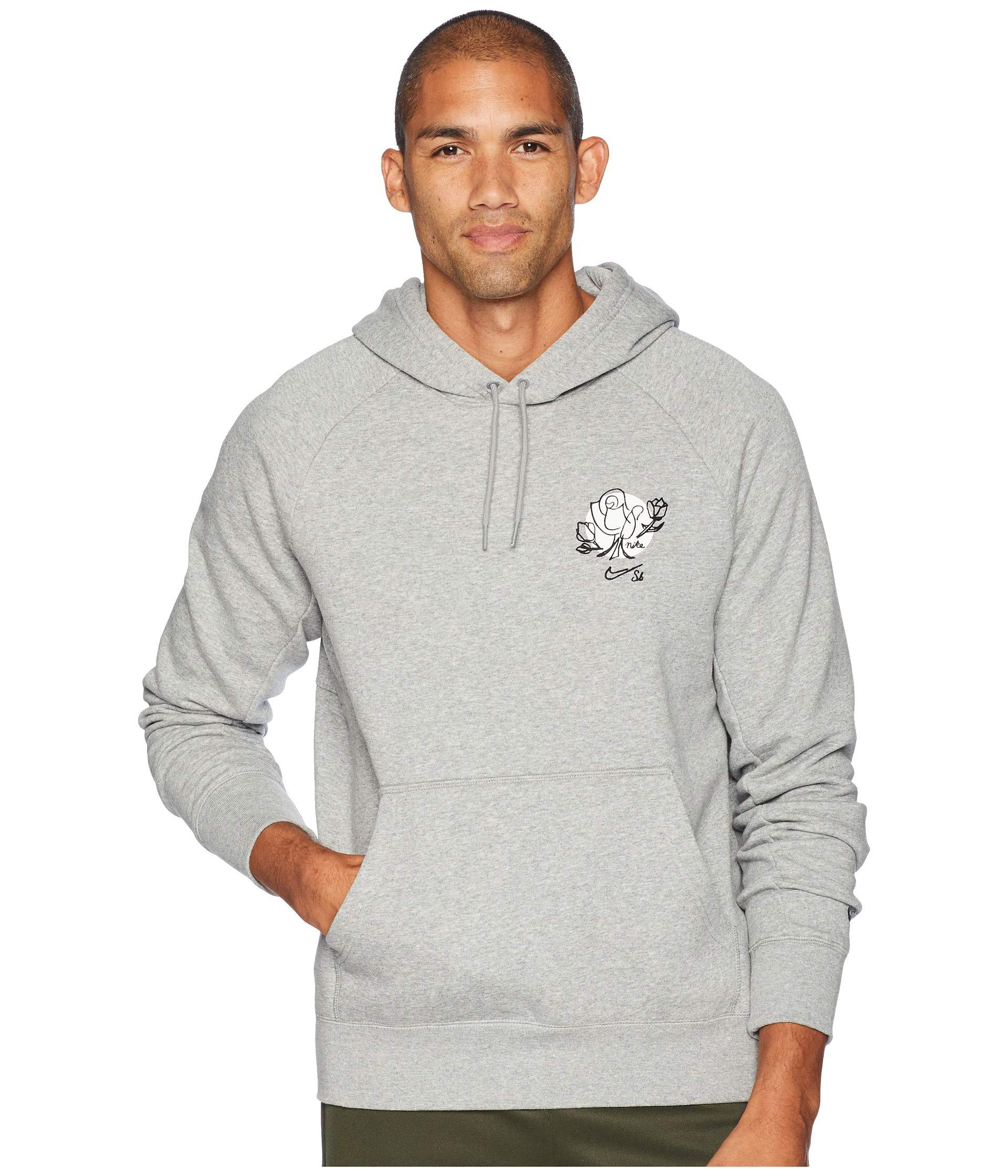a4b4e7d9bd51 Lyst - Nike Sb Icon Pullover Floral Hoodie (black white yellow Ochre ...