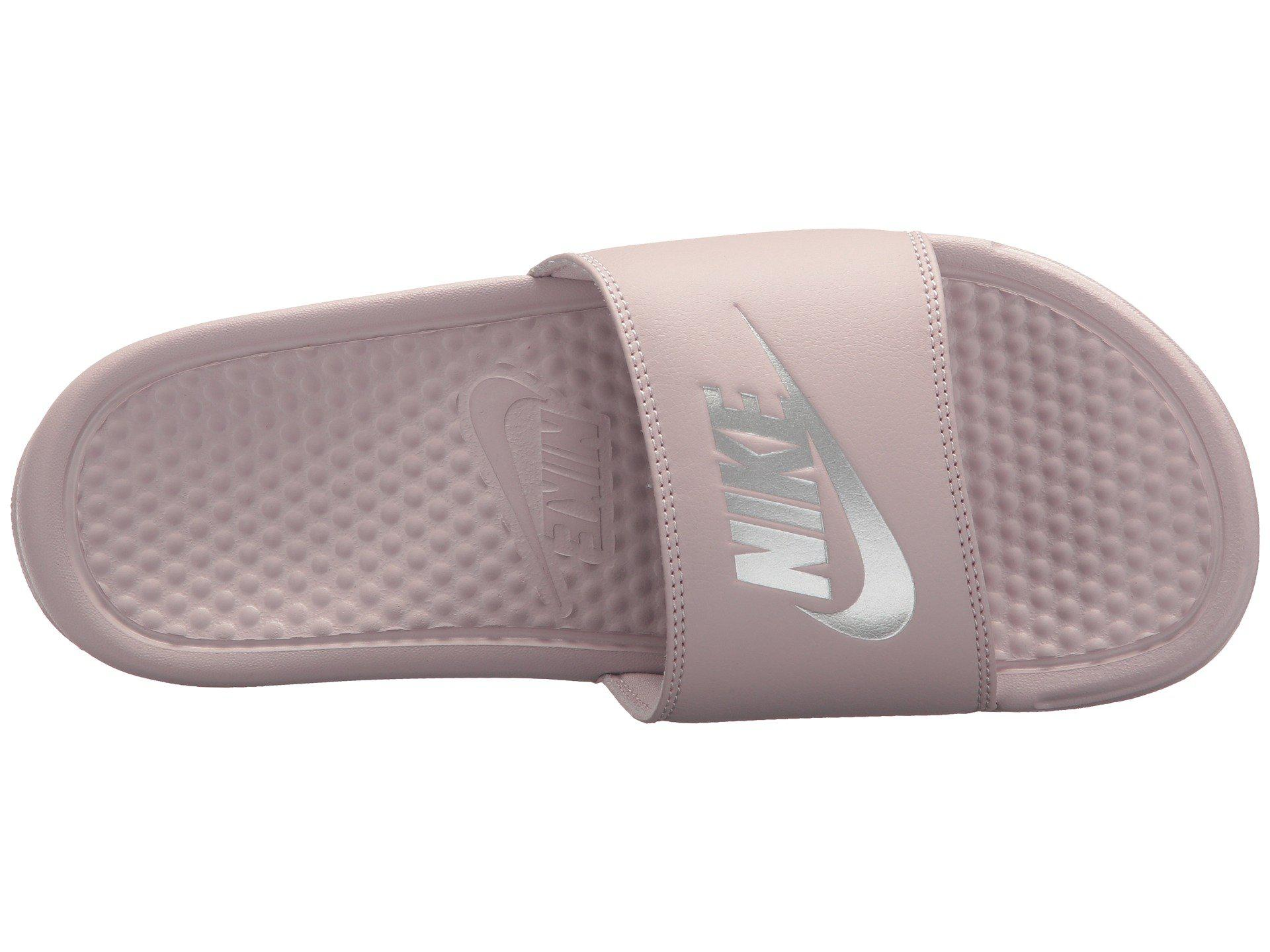 online retailer 4a95b 1ddc1 Nike - Multicolor Wmns Benassi Jdi Particle Rose  Metallic Silver - Lyst.  View fullscreen