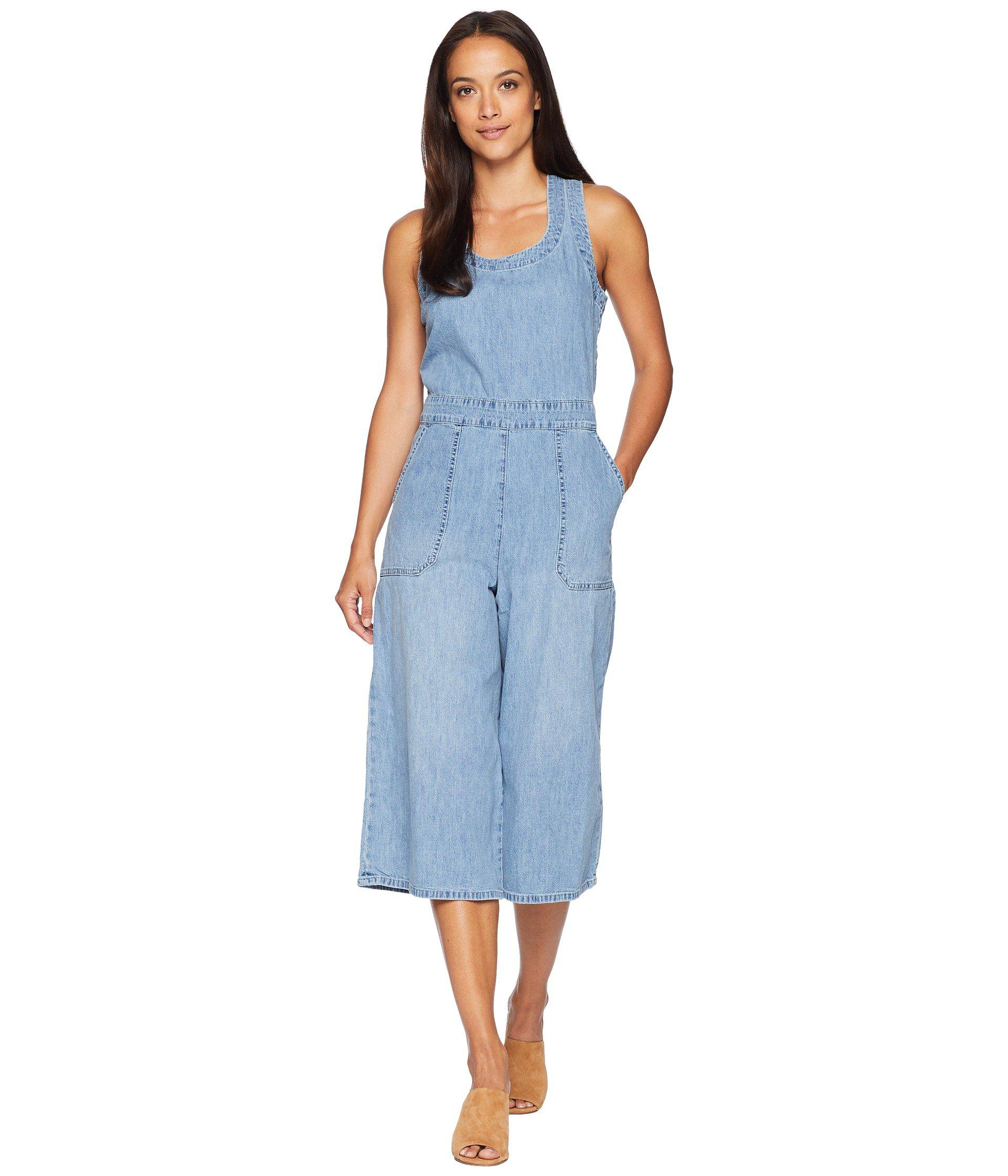 8b72bfdee58 Lyst - Lucky Brand Culotte Jumpsuit In Garford in Blue