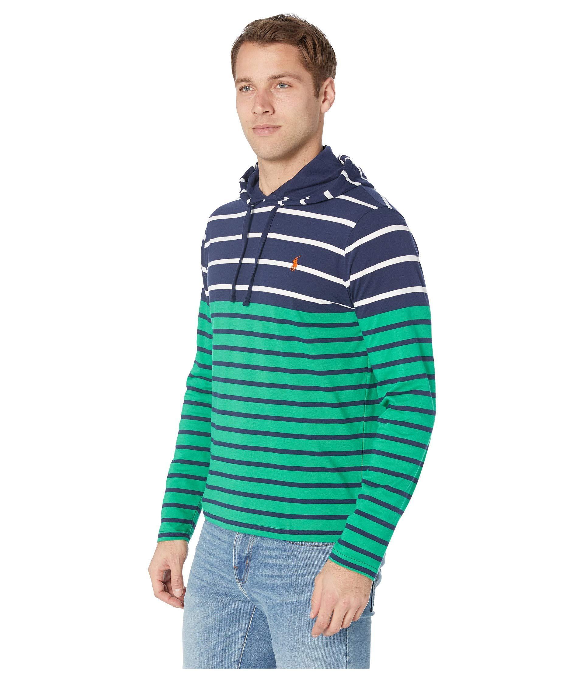 7e3f734d9 Polo Ralph Lauren Long Sleeve Hooded Tee (white Multi) Men's T Shirt in  Blue for Men - Lyst