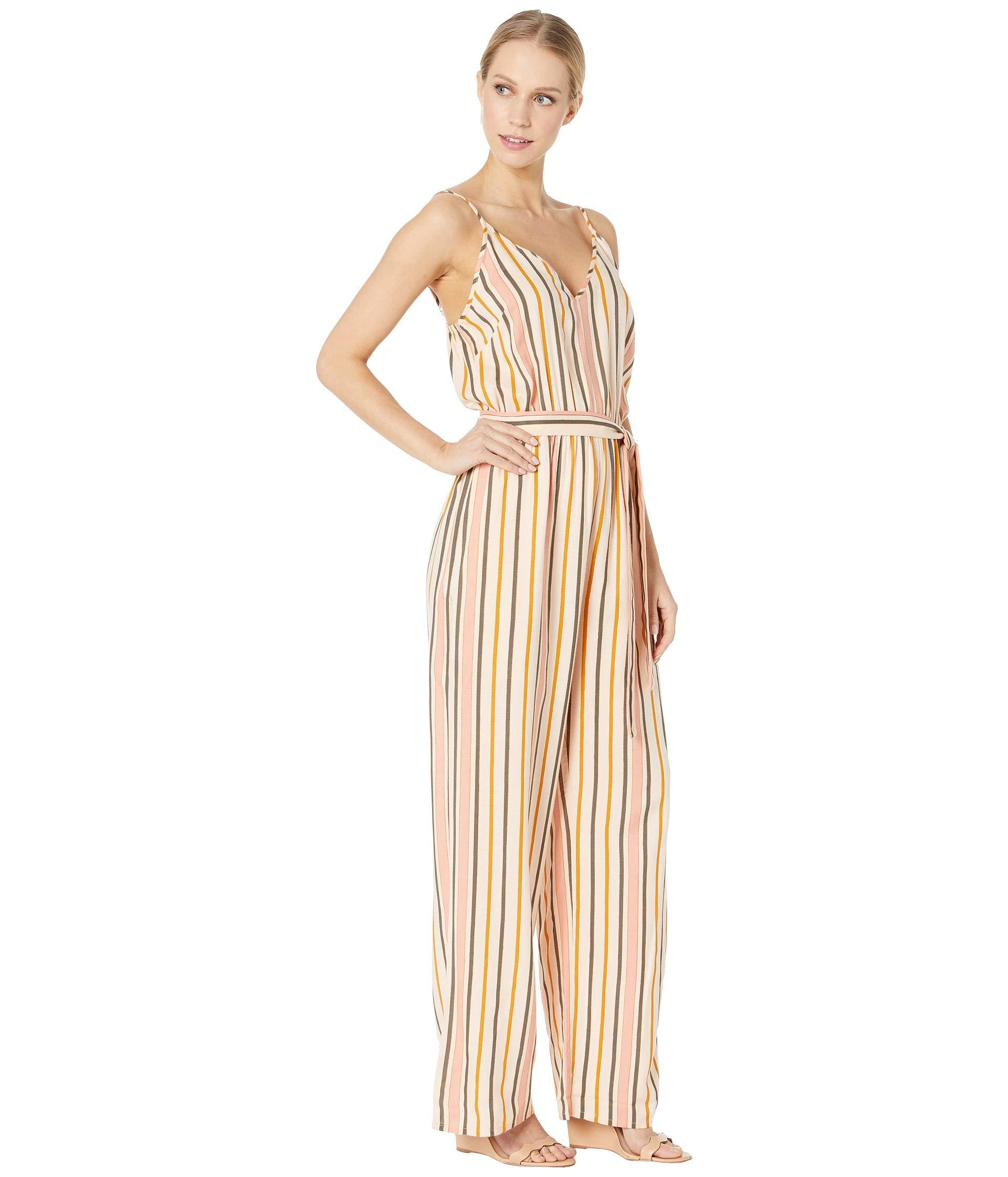 d585b16adca65 Roxy Cha Cha For Now Woven Jumpsuit (cream Tan Macy Stripe Swim ...