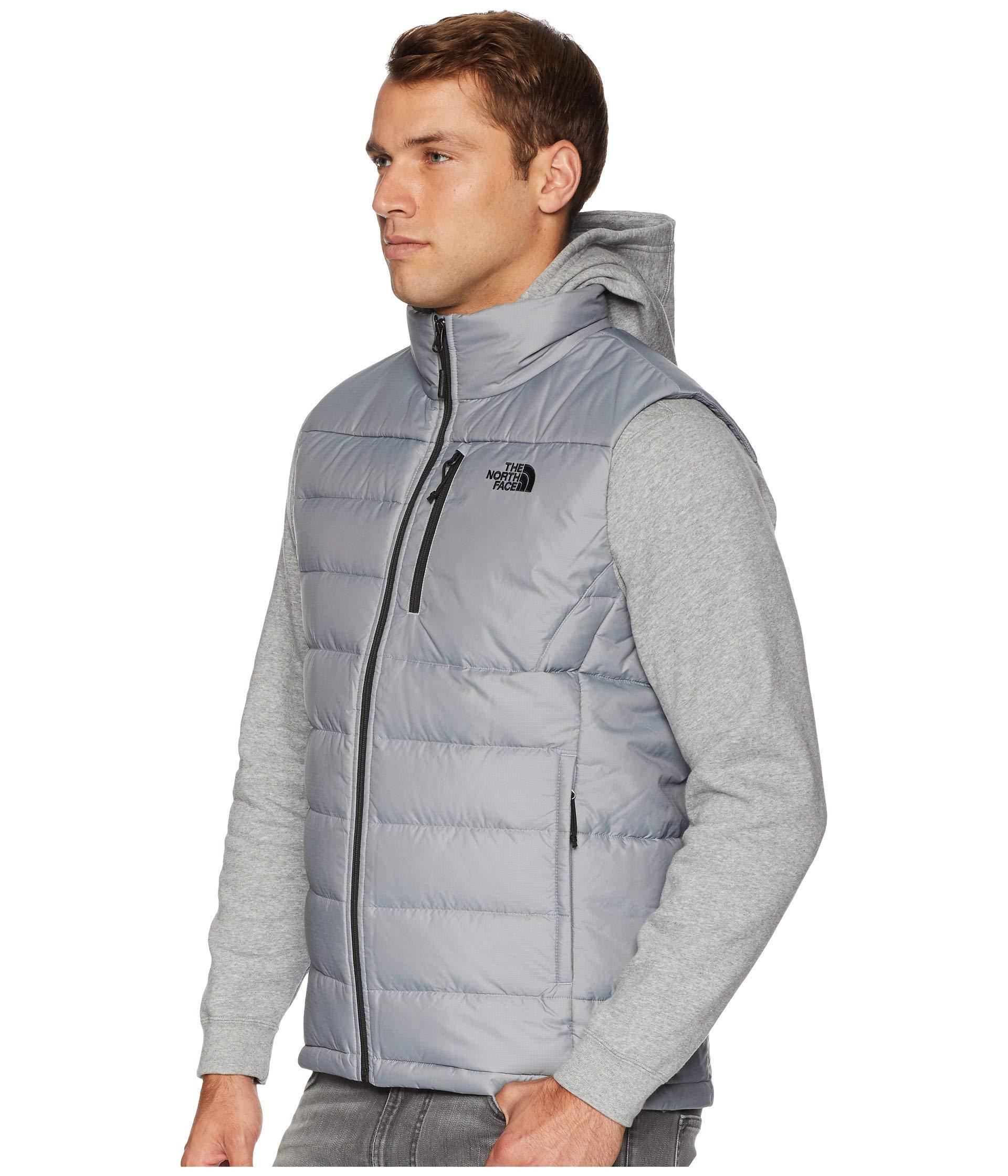 43d9279c70 Lyst - The North Face Aconcagua Vest (mid Grey) Men s Vest in Gray for Men