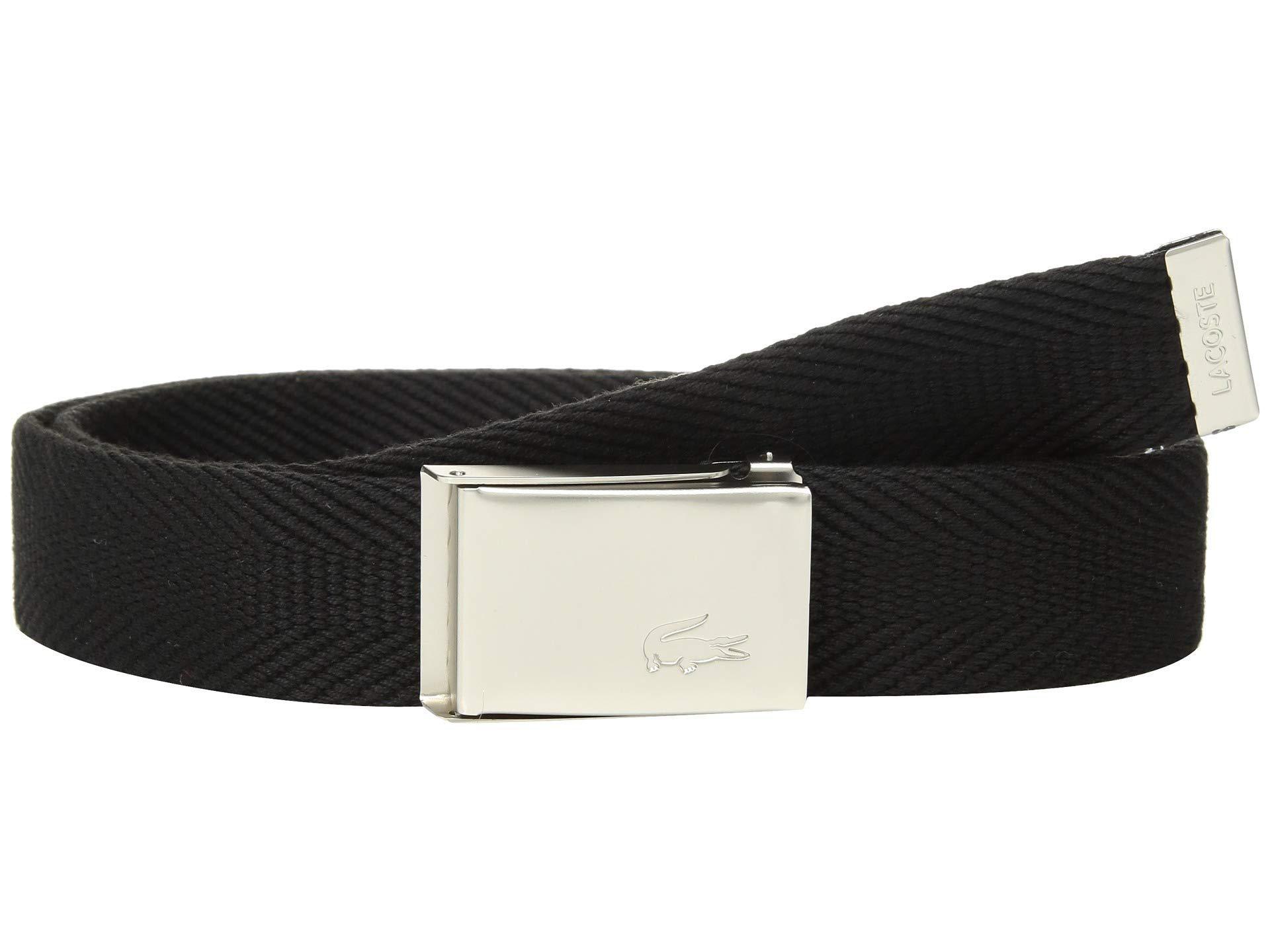 dc41c79d18072c Lyst - Lacoste Textile Signature Croc Logo Belt (red) Men s Belts in ...