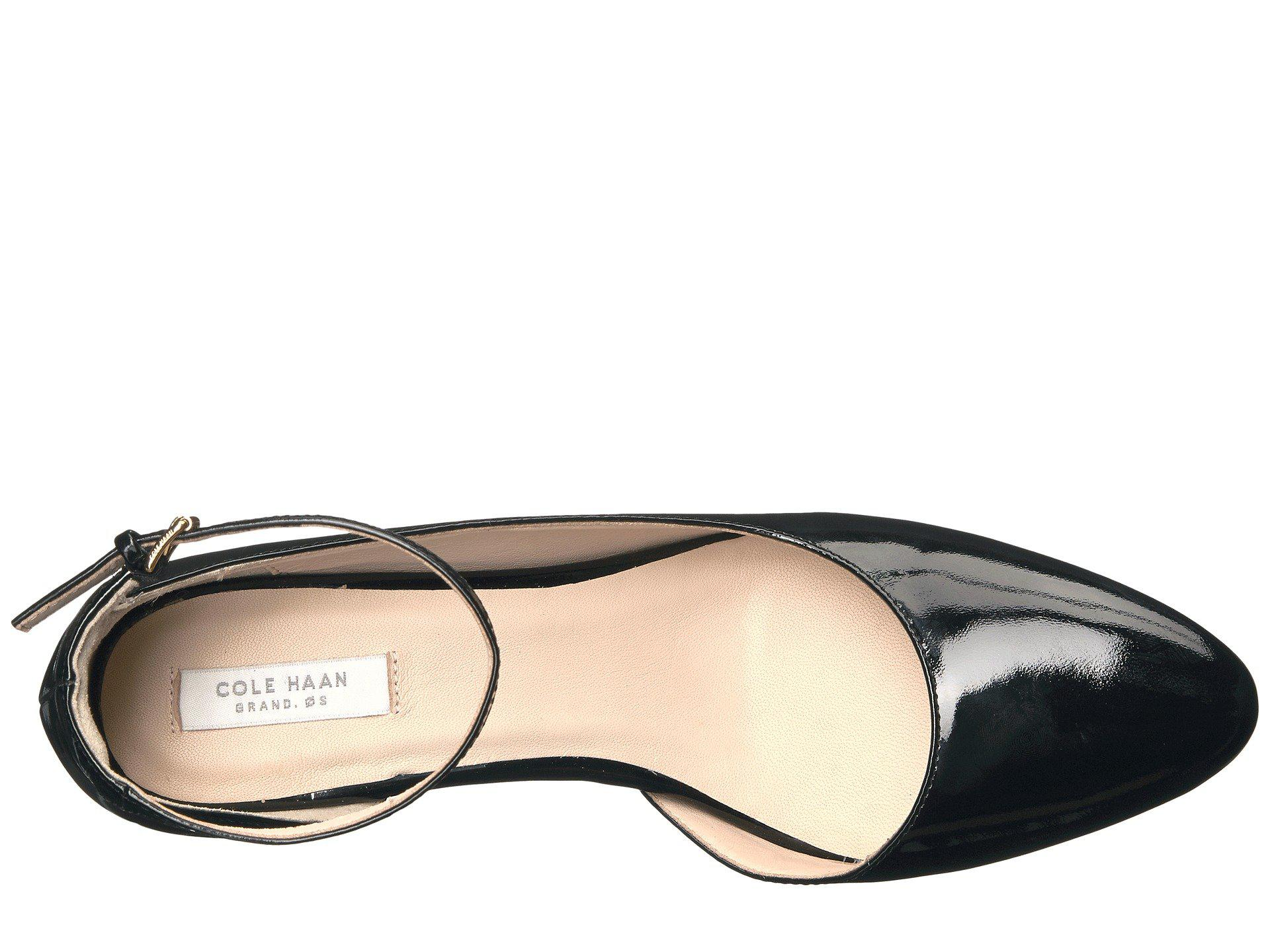 53689f2261 Cole Haan - Lacey Ankle Strap Wedge 85mm (black Patent) Women's Wedge Shoes  -. View fullscreen