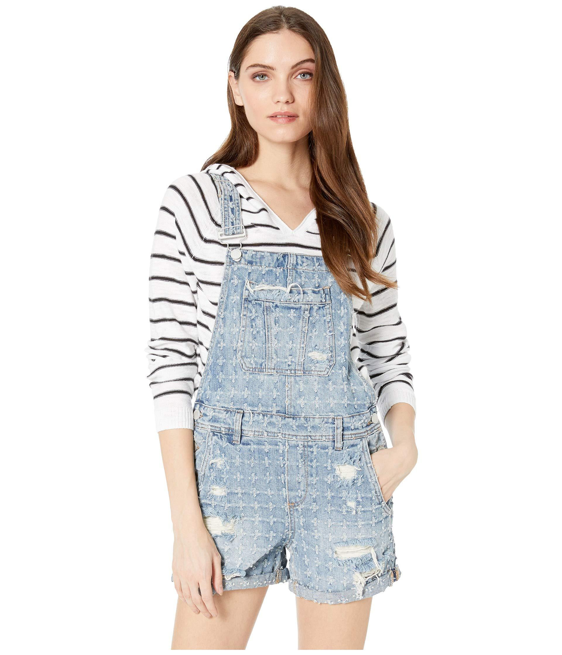 2edbb4cd8c Lyst - Blank NYC Proferated Overalls In Punch Line (punch Line ...