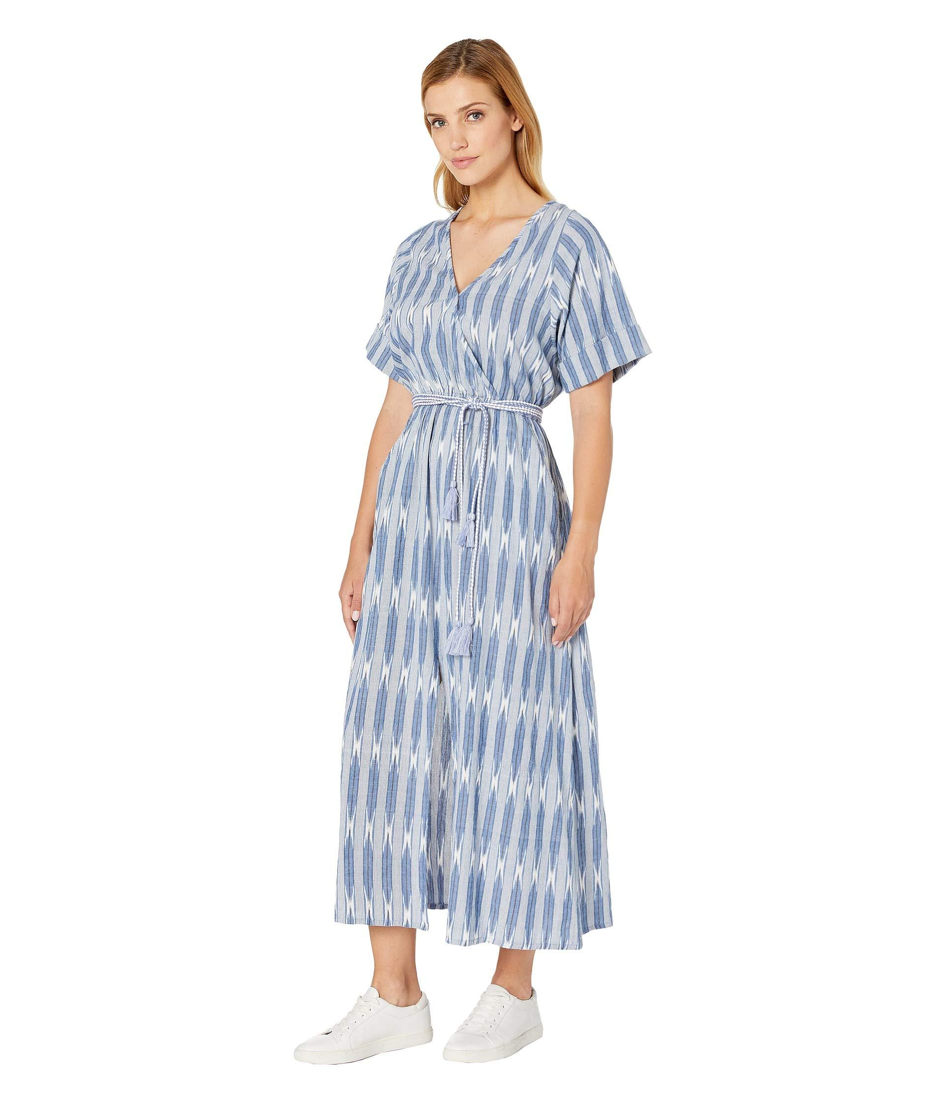 c609866bc828 Karen Kane Cuffed Sleeve Dress (off-white/blue) Women's Clothing in Blue -  Lyst