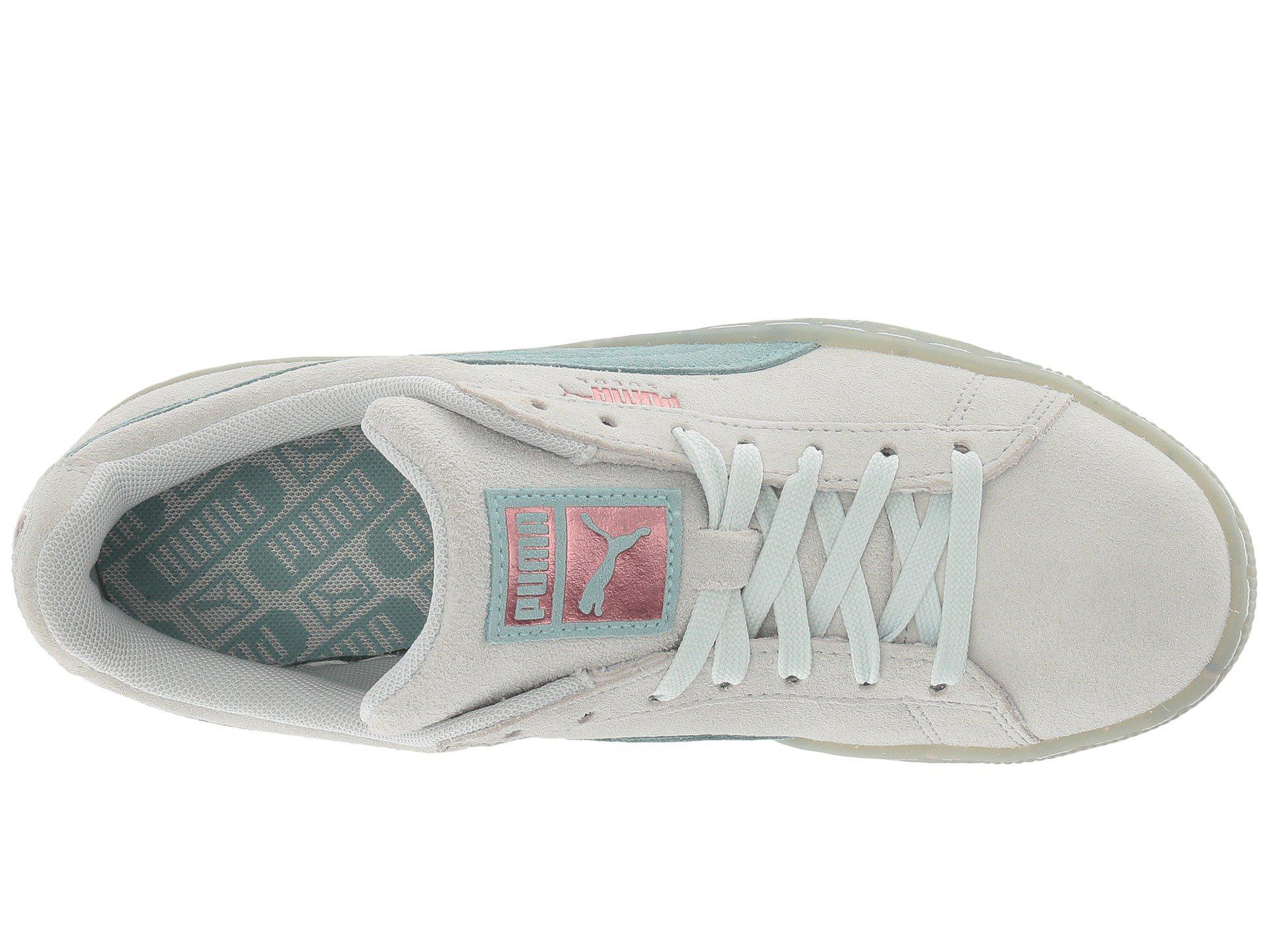 ... Women S SNEAKERS 9 Shell Pink-shell top quality 3fef1 c73a7  Lyst - Puma  Suede Classic Glitz in Blue good selling d63b4 9f0fe ... 59b63ba49