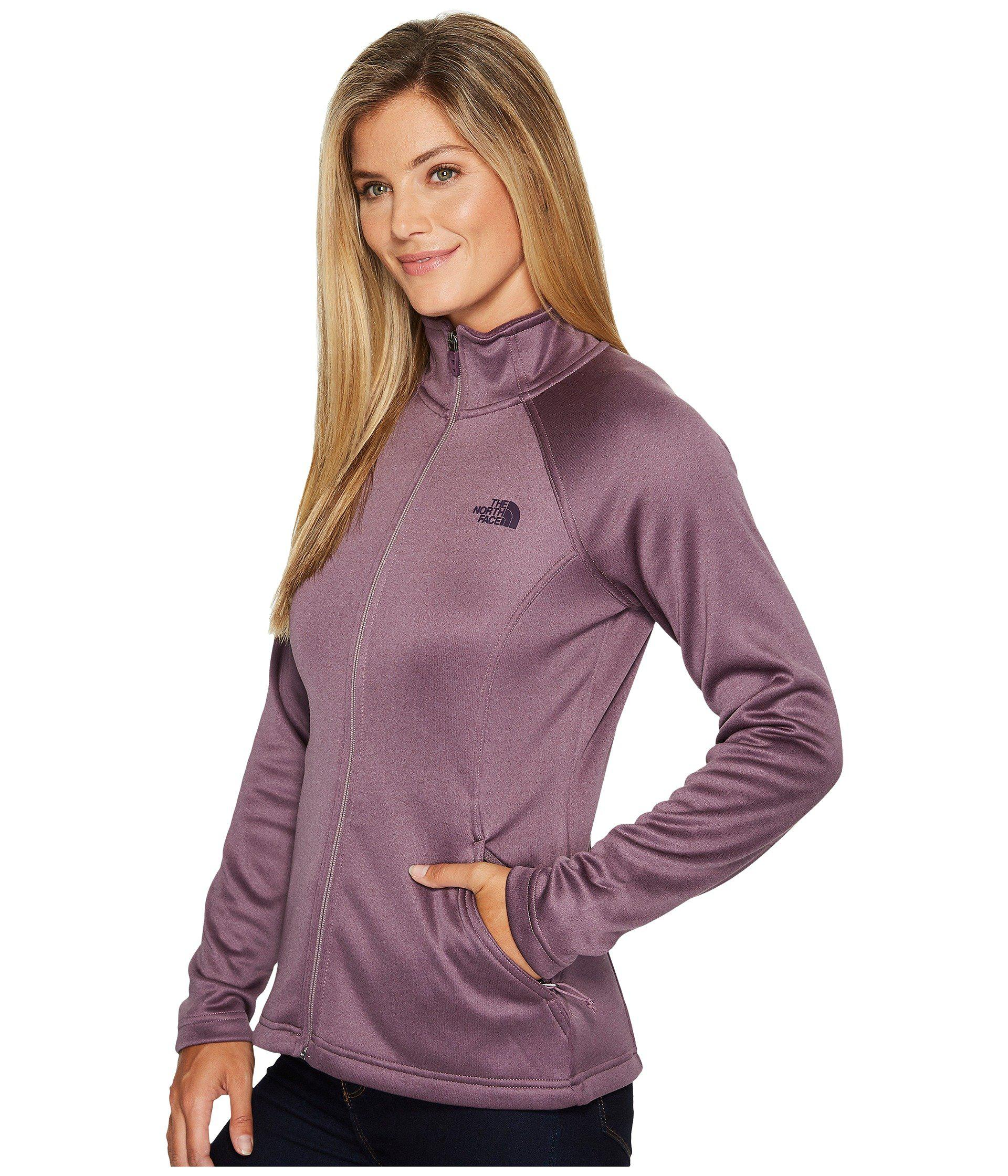 719154293ea Lyst - The North Face Agave Full Zip (black Plum Heather (prior ...