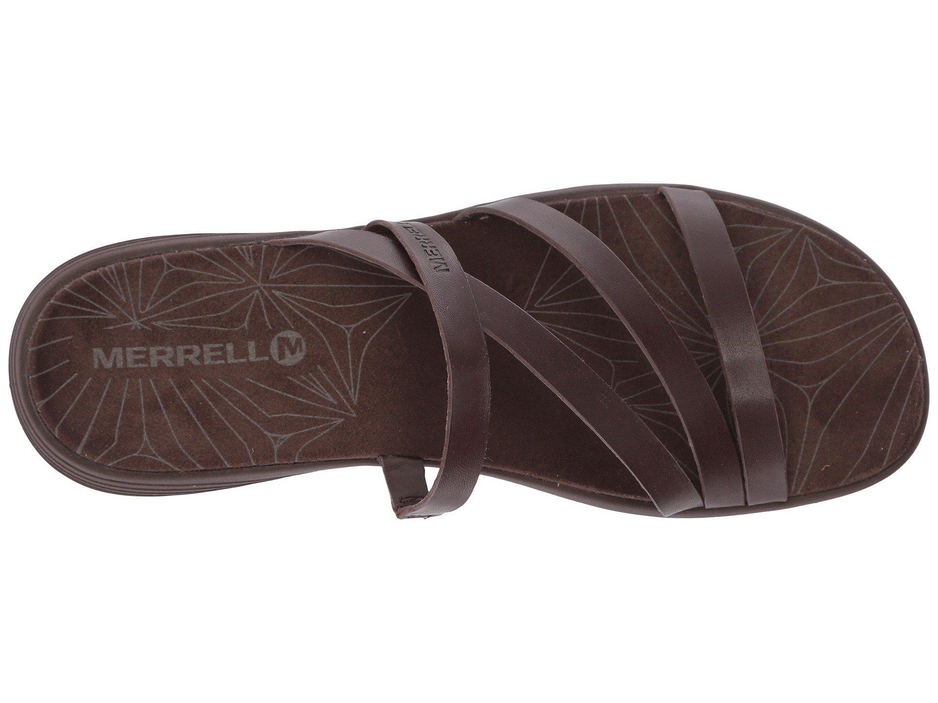 0f4348442f69 Lyst - Merrell Duskair Seaway Slide Leather (bracken) Women s Shoes ...