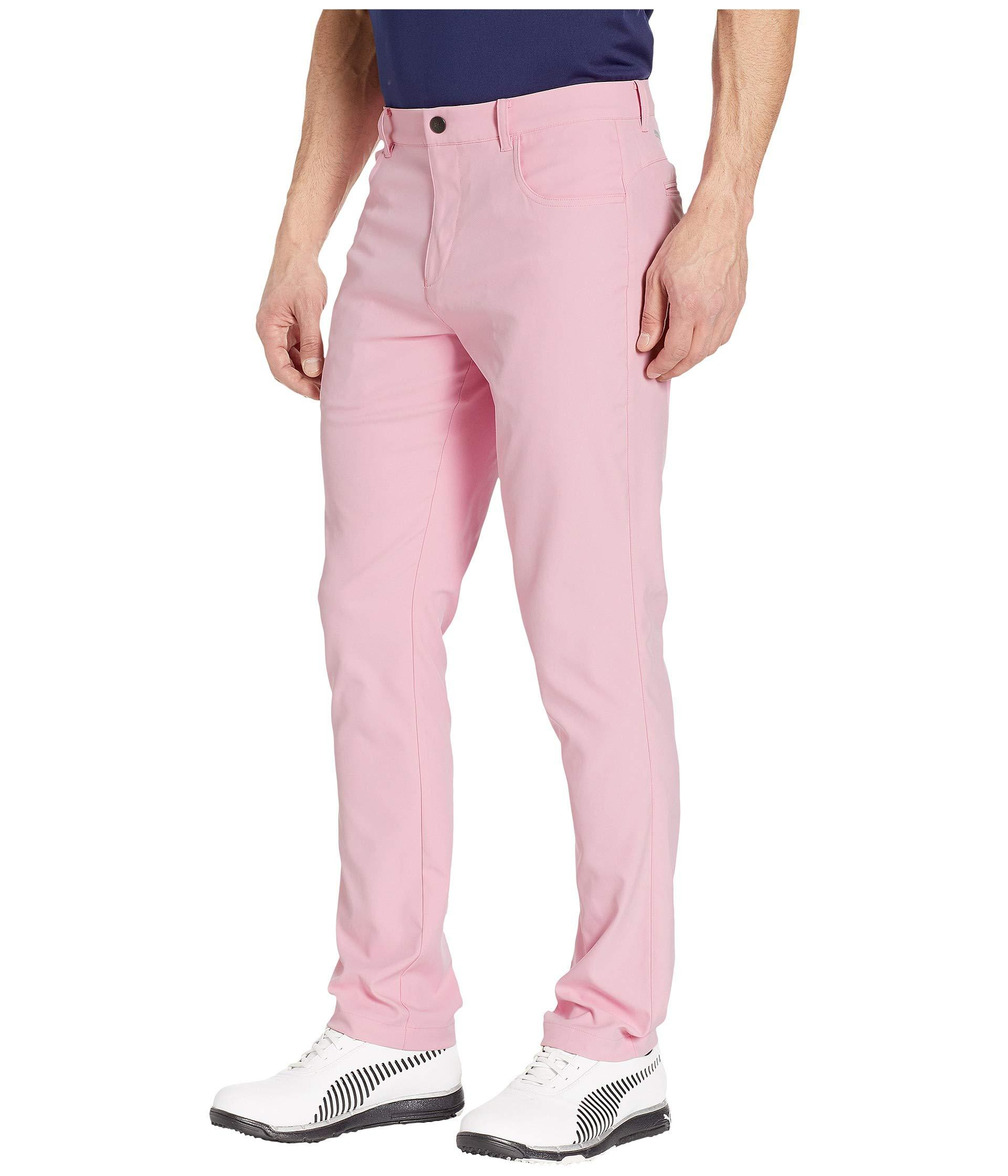 d98ebca61966 Lyst - PUMA Jackpot Five-pocket Pants (bright White) Men s Casual Pants in  Pink for Men