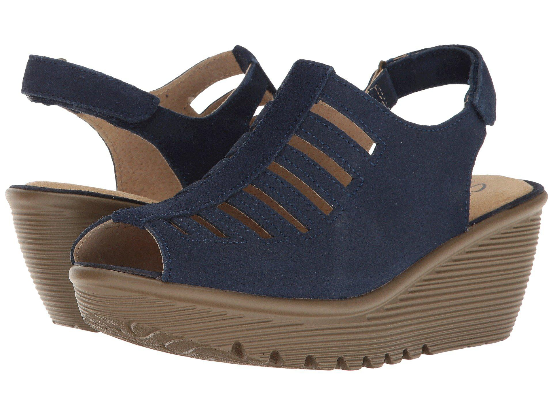 9be653a29d Lyst - Skechers Parallel-trapezoid Wedge Sandal in Blue - Save 46%
