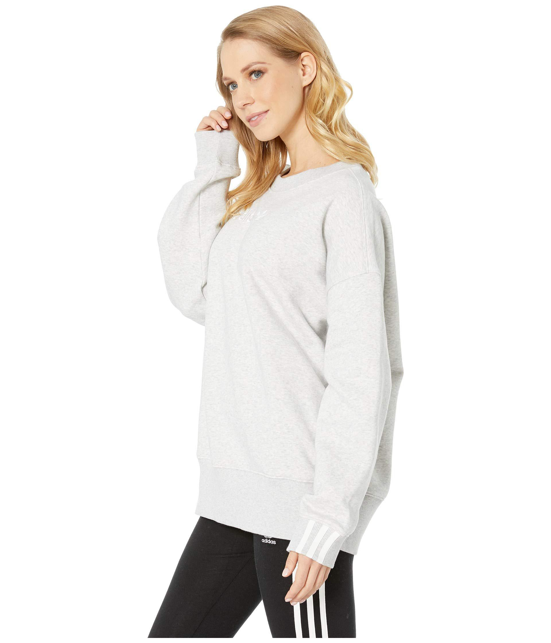 Lyst Sweatshirt Heather Originals light Adidas Coeeze Grey gTgrvnB