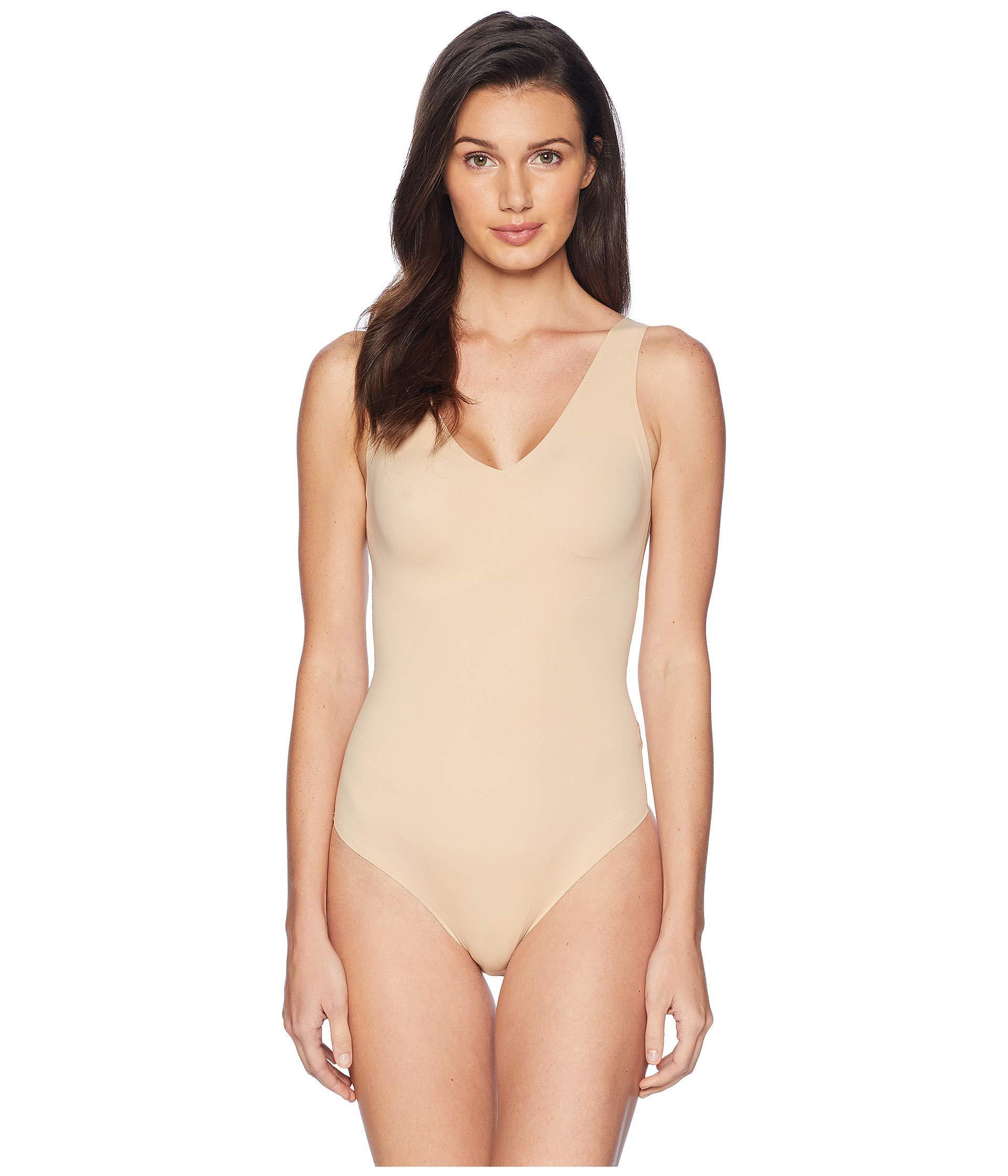 Calvin Klein. Invisibles Slips Bodysuit (bare) Women s Jumpsuit   Rompers  One Piece 363a8e911