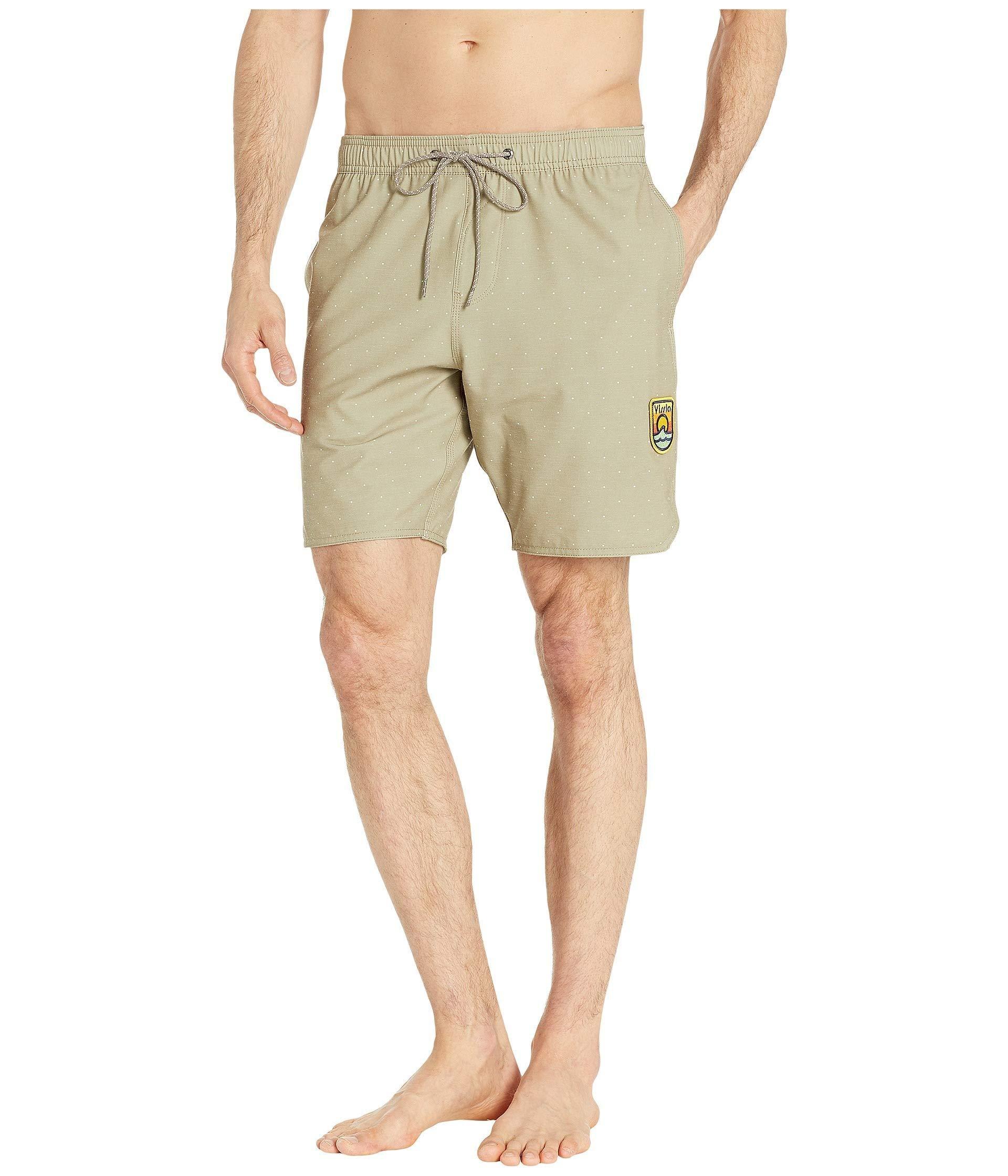 b2563b02 Vissla 17.5 Solid Sets Printed Ecolastic (khaki) Men's Swimwear in ...