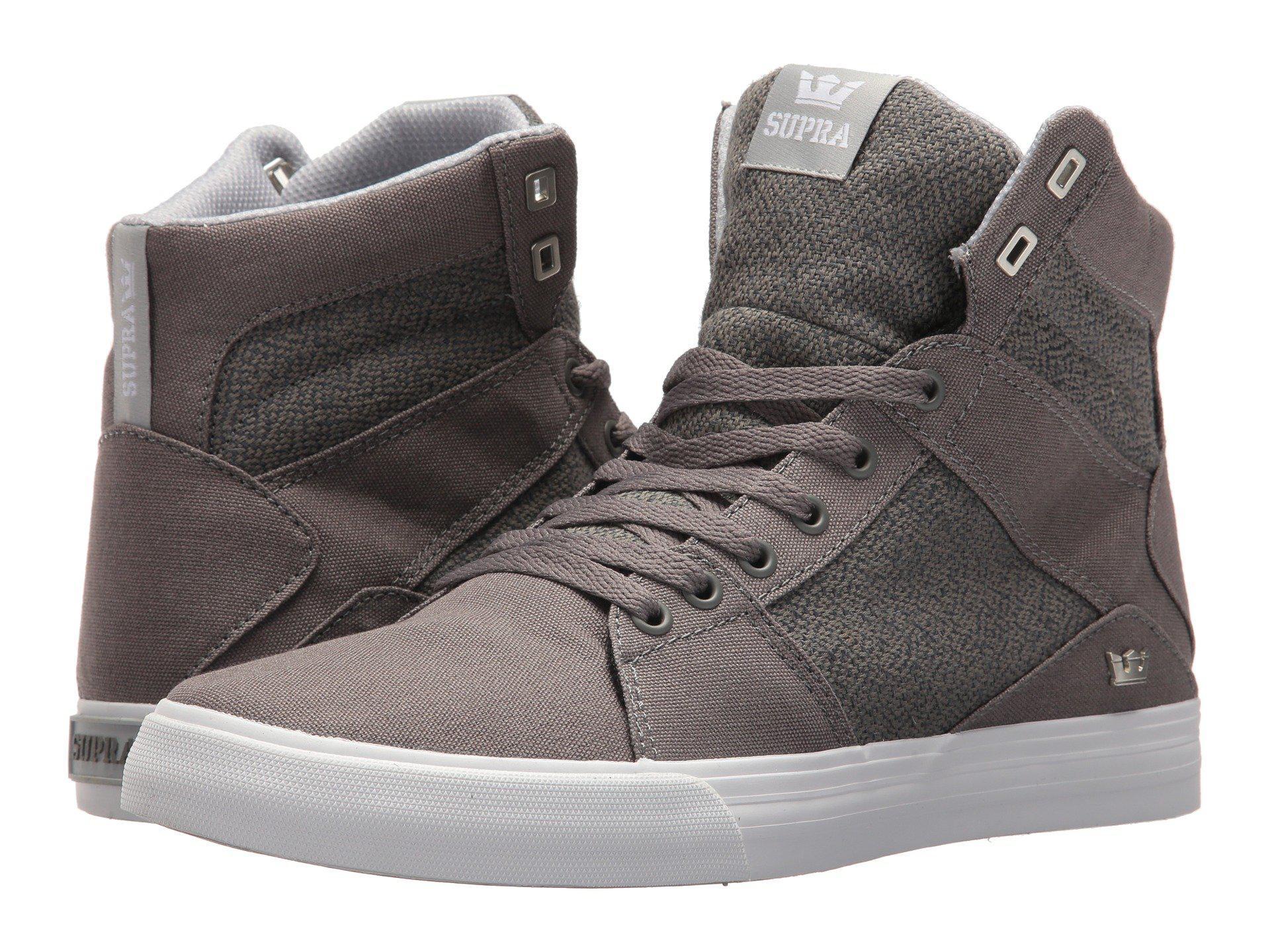 6ffa2cf709c1 Lyst - Supra Aluminum (grey light Grey white) Men s Skate Shoes in ...