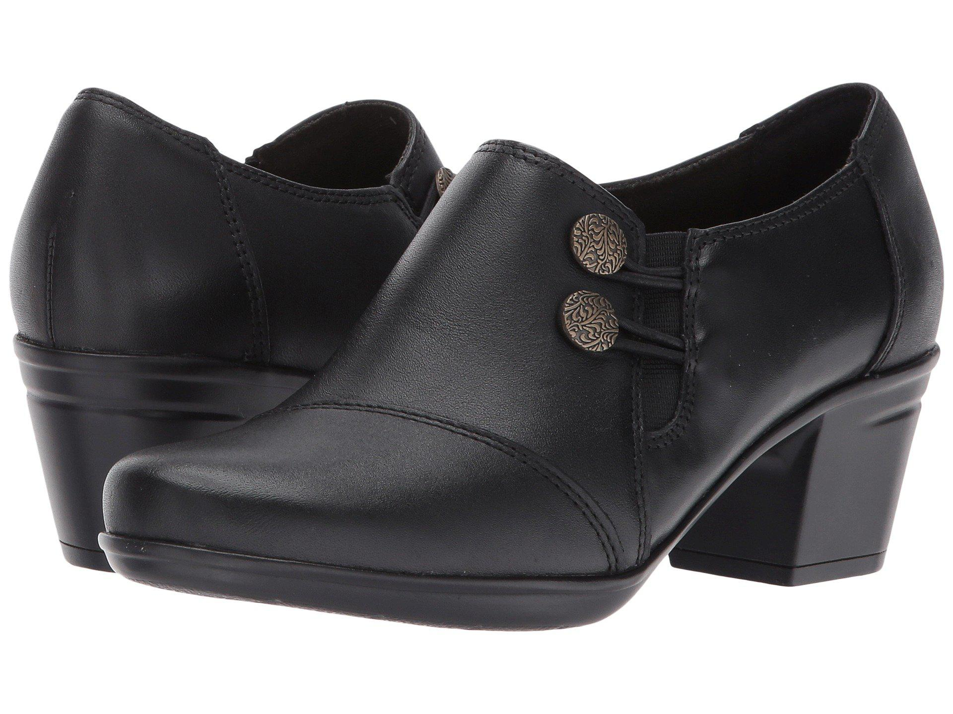 3903edfa82 Lyst - Clarks Emslie Warren (dark Brown) Women s Slip On Shoes in Black