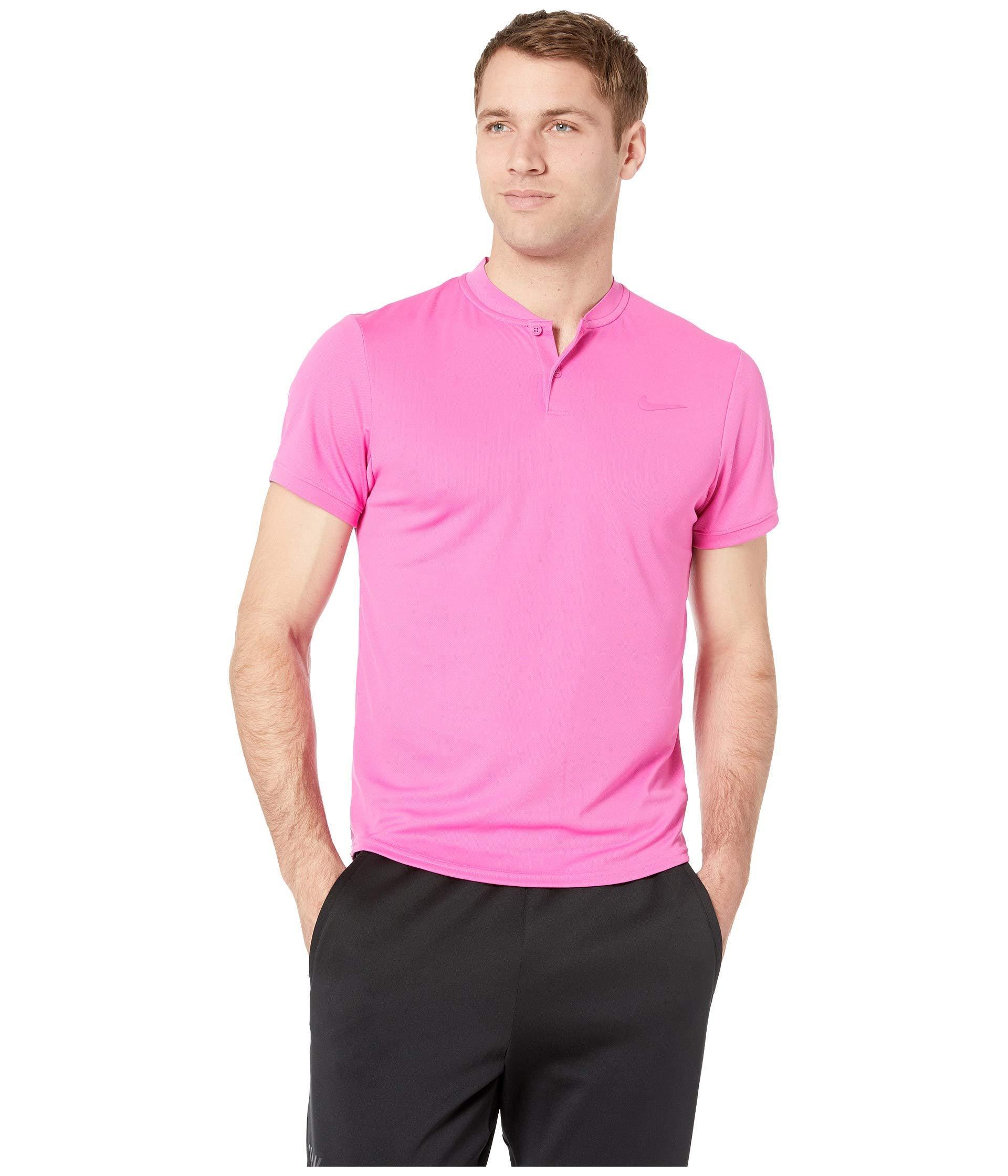 31e195ab Lyst - Nike Court Dry Polo Blade (black/white) Men's Clothing in ...