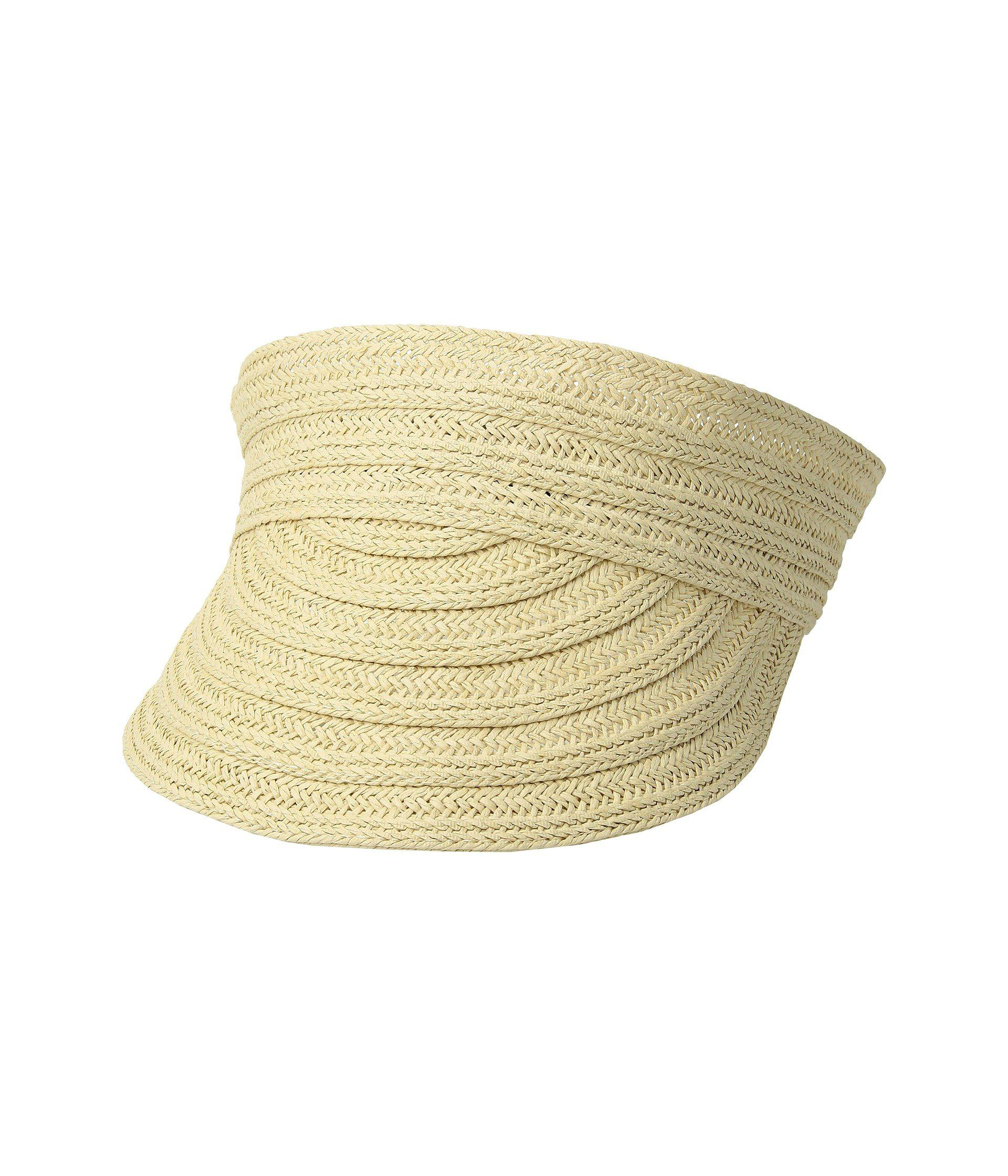 Lyst - Lauren by Ralph Lauren Packable Straw Visor Hat (natural ... 7471b558772