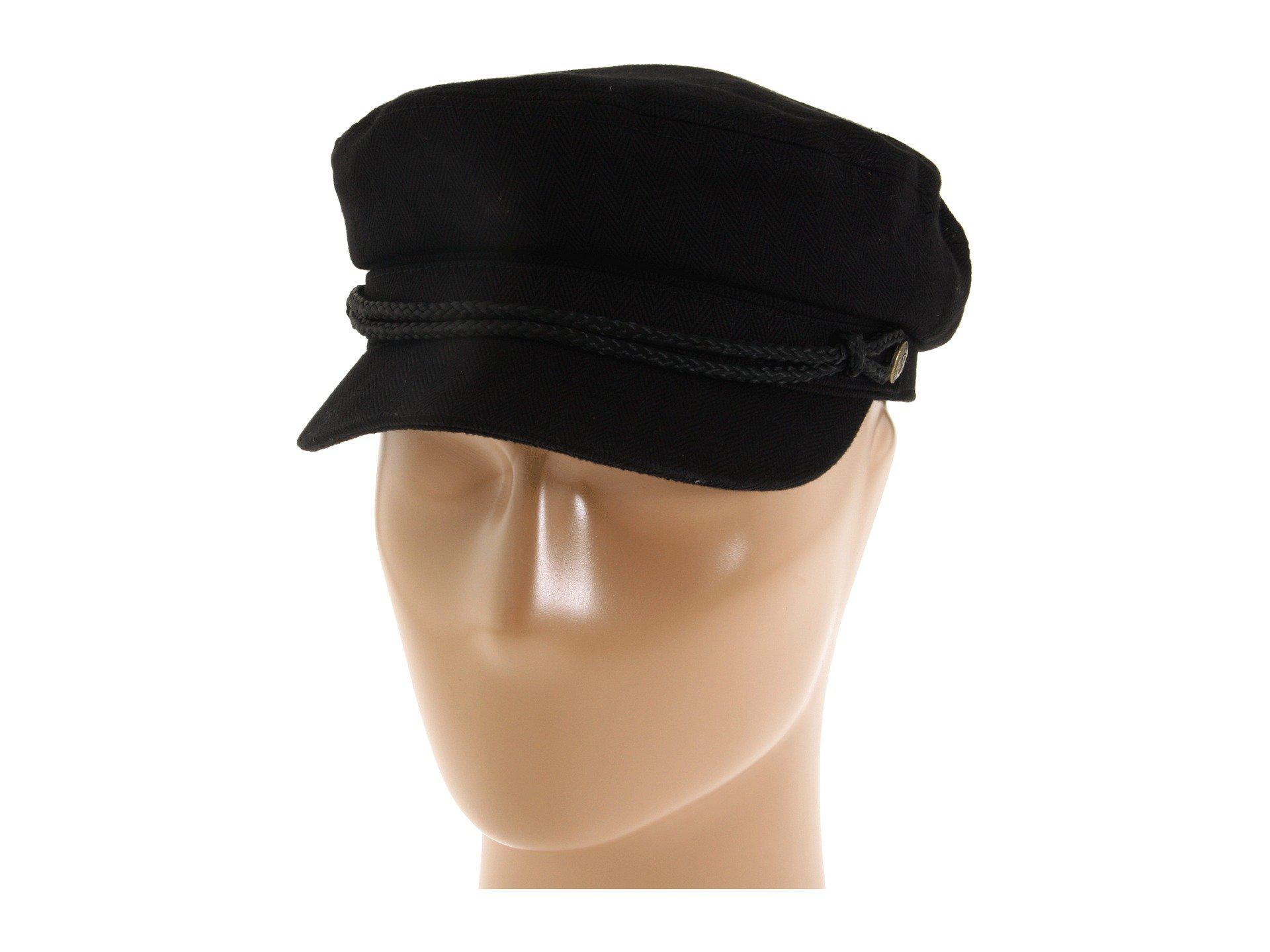 Lyst - Brixton Fiddler (black Herringbone Twill) Traditional Hats in ... 02a5e8657049