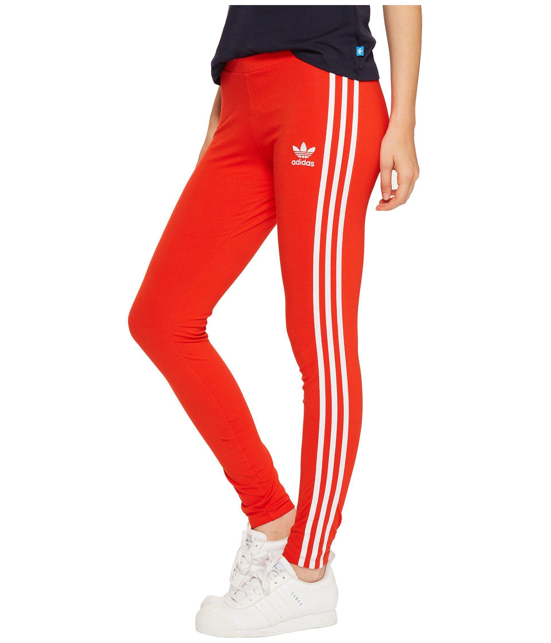 df4b0dab6abed adidas Originals 3-stripes Leggings - London in Red - Lyst