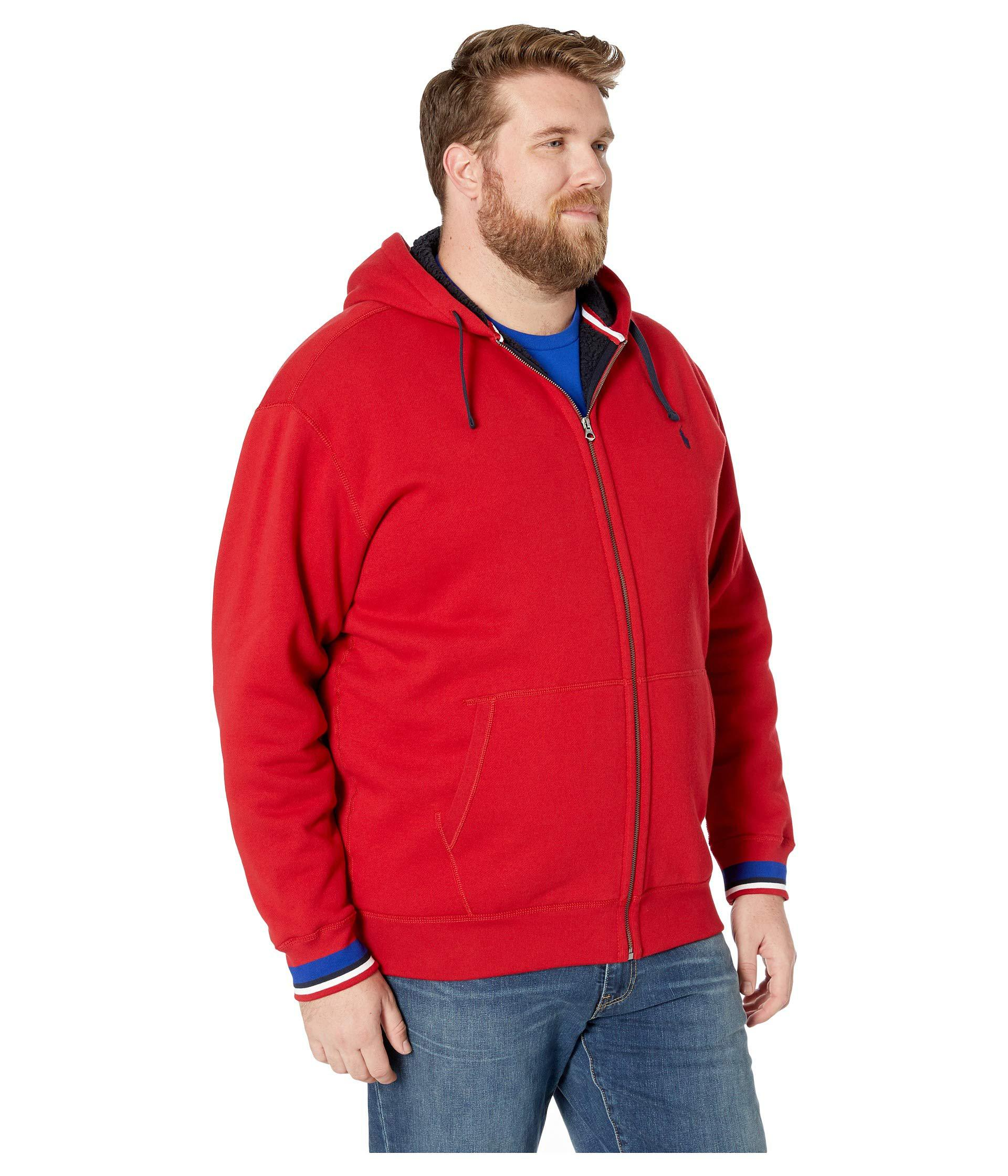 ac3a619ef Polo Ralph Lauren Big Tall Classic Athletic Sherpa Lined Fleece Full ...