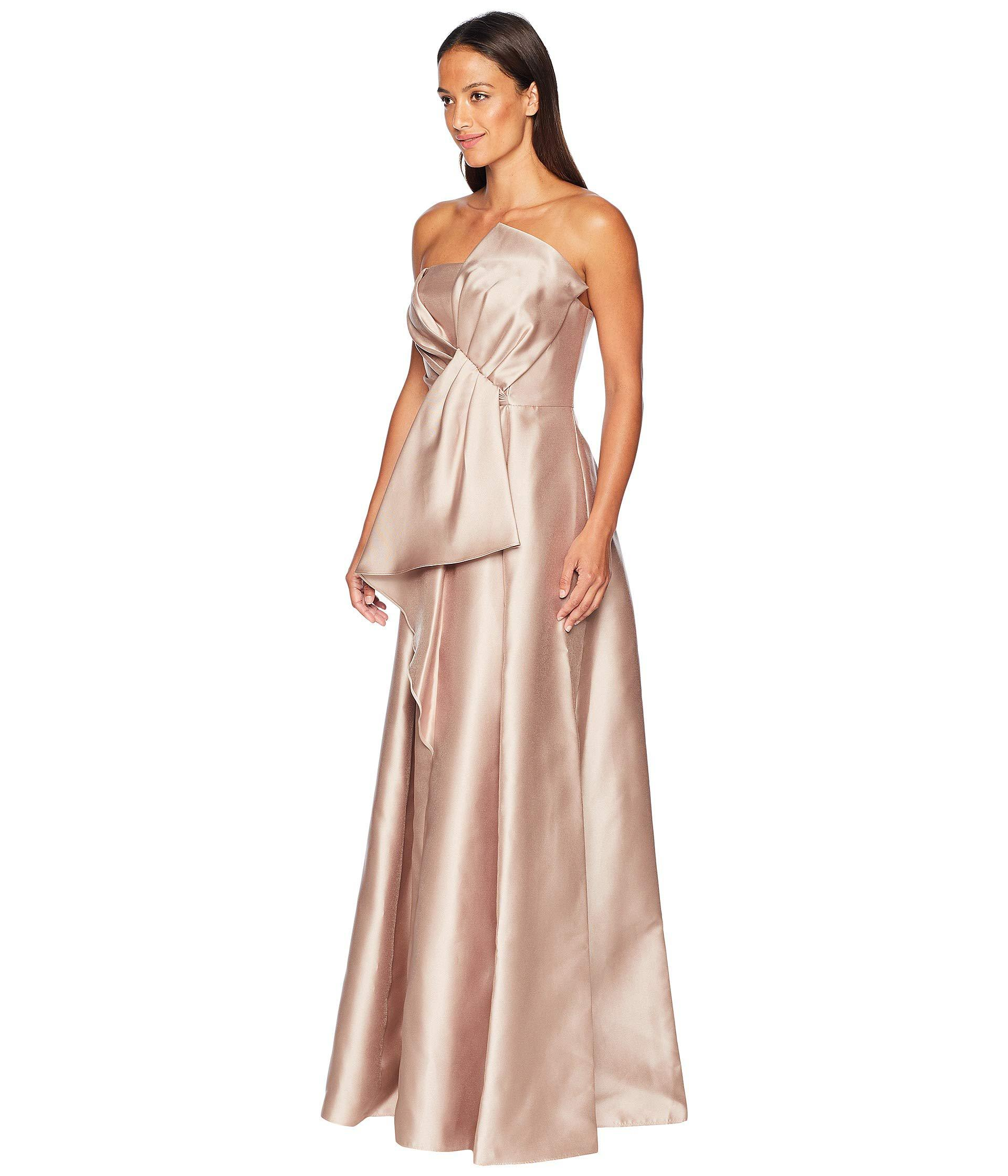 c3c45ccccda9 Lyst - Adrianna Papell Strapless Mikado Ball Gown With Bow Accent Dress in  Pink - Save 14%