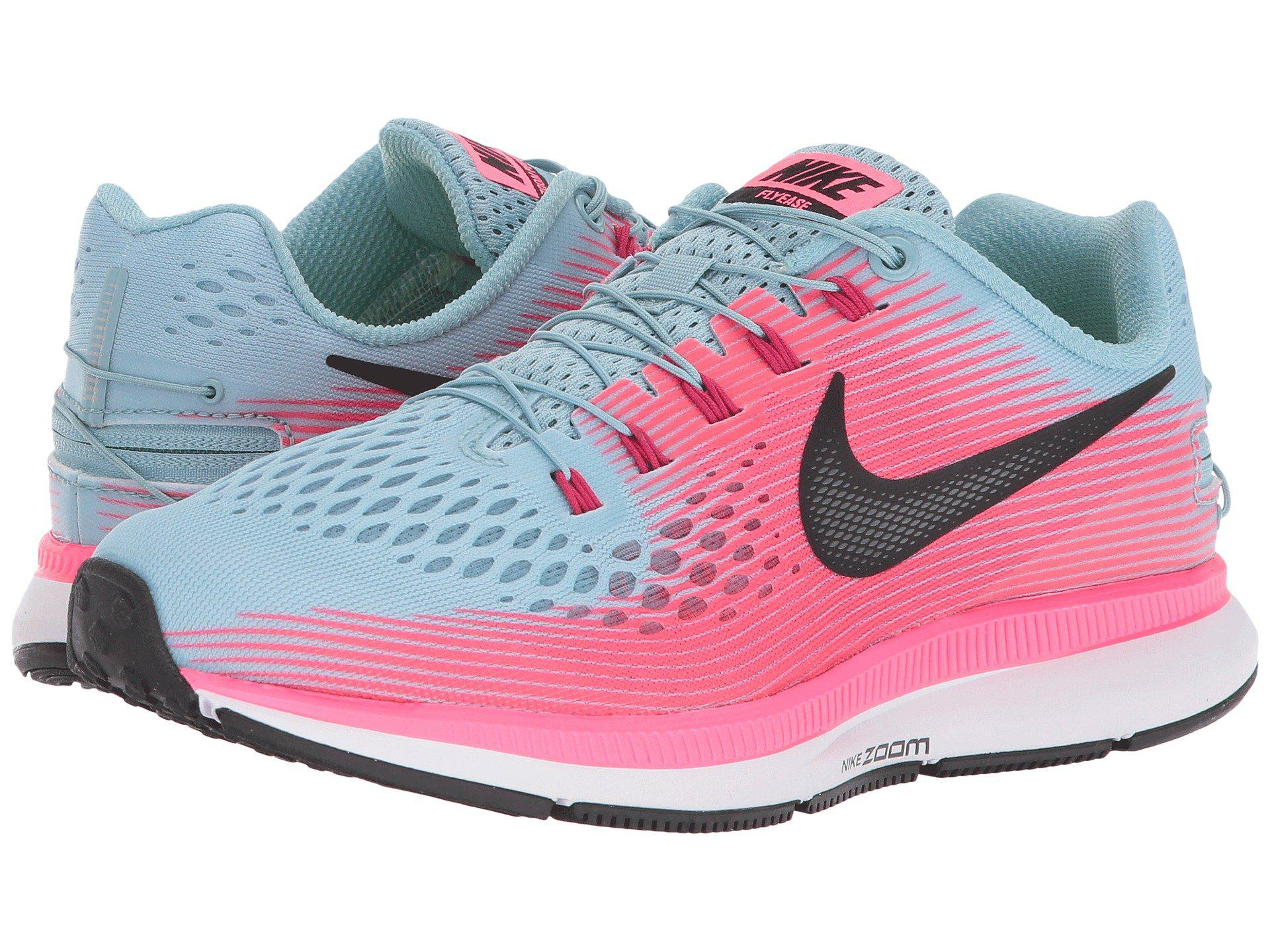 Nike - Pink Air Zoom Pegasus 34 Flyease - Lyst. View Fullscreen. There was  a problem loading this image.